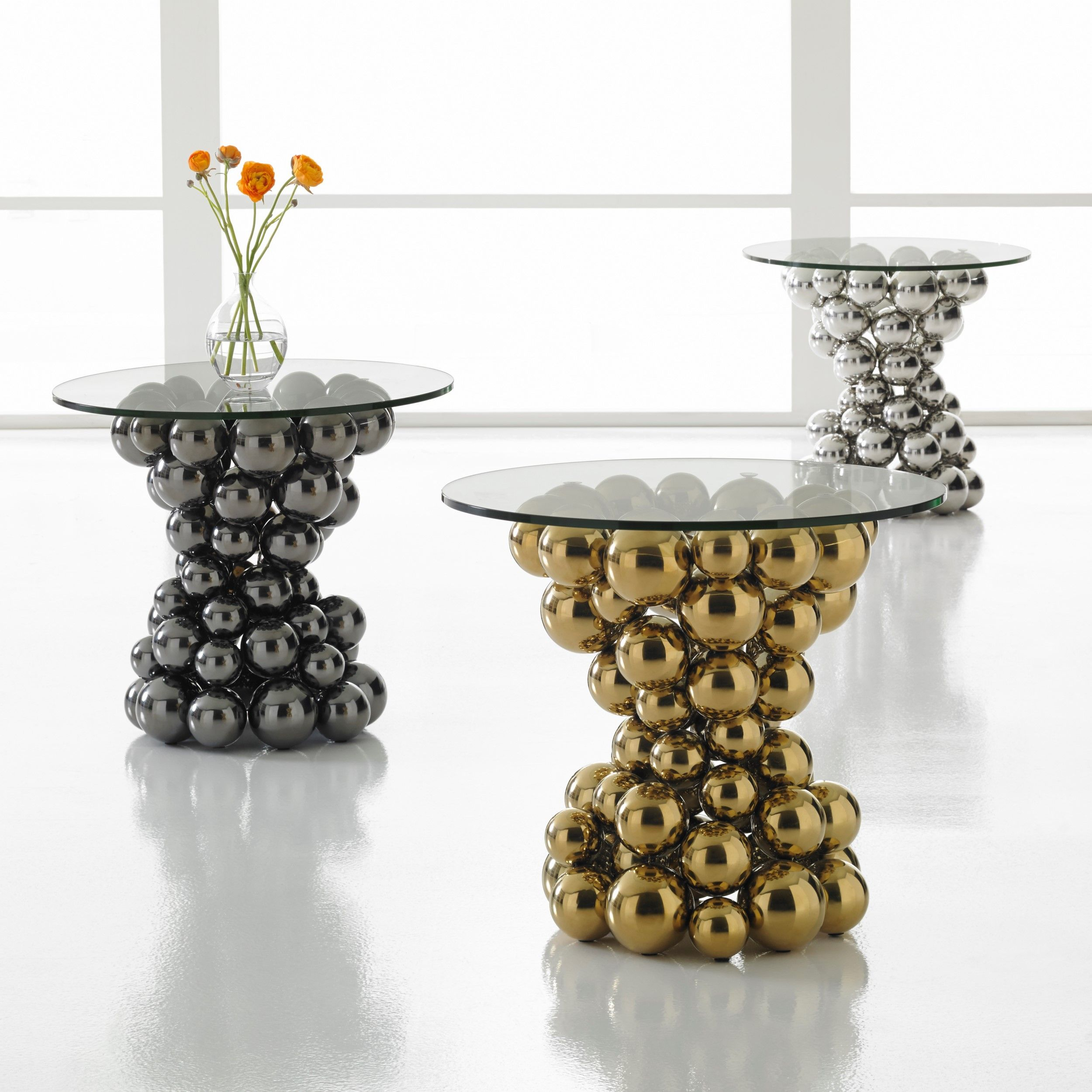 Frizzante Tablesmandy Shanahan For Phillips Collection throughout Phillip Brass Console Tables (Image 10 of 30)