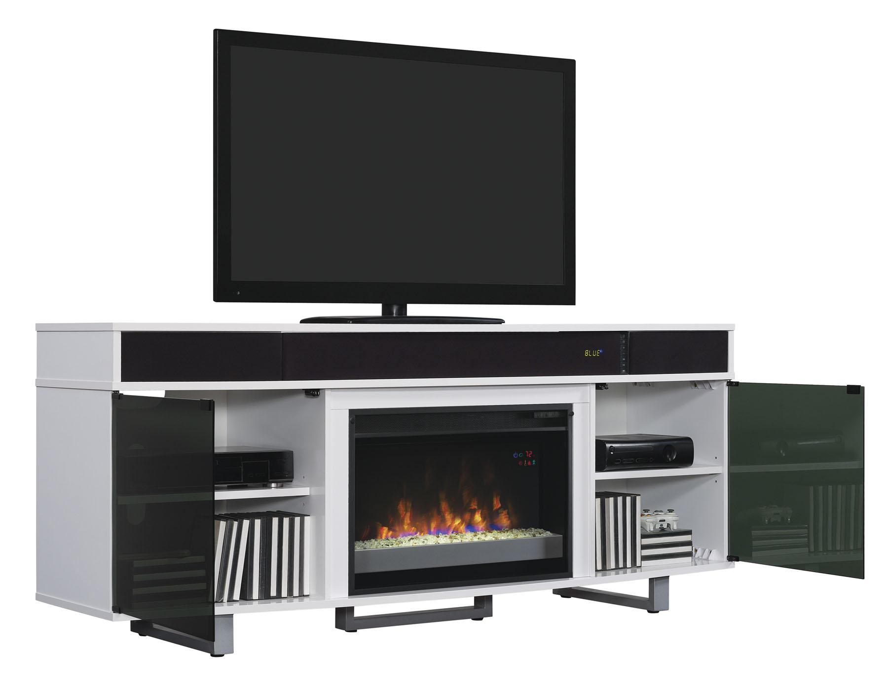 Furniture: Amazing Tv Stand With Fireplace For Your Flat Screen Tv With Willa 80 Inch Tv Stands (View 17 of 30)