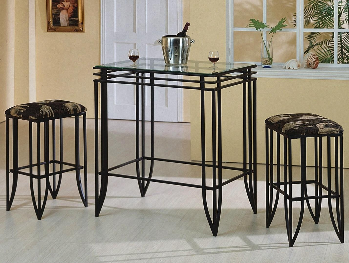 Furniture Clearance Center | Pub Sets inside Parsons Walnut Top & Brass Base 48X16 Console Tables (Image 8 of 30)