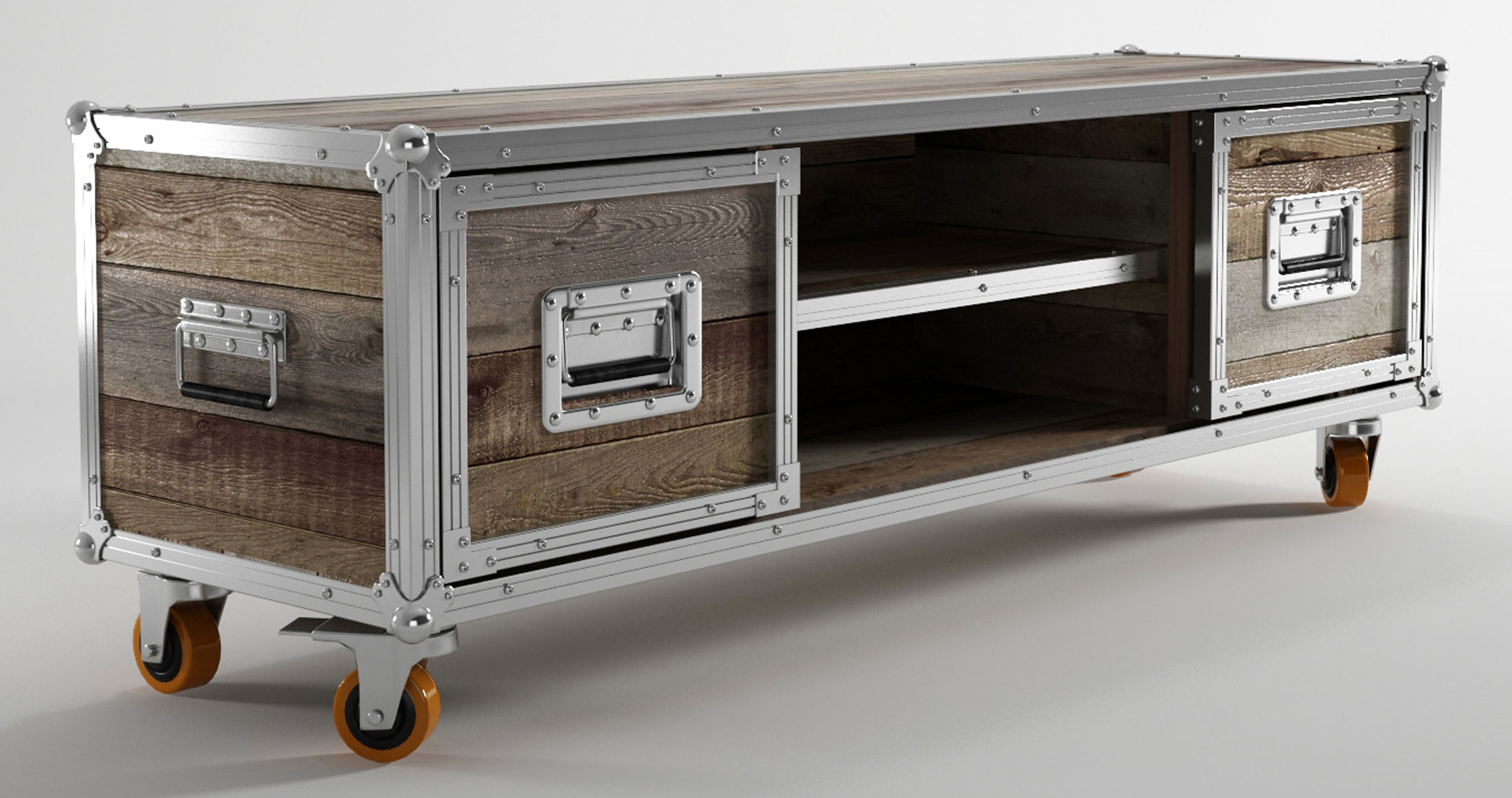 Furniture: Interesting Reclaimed Wood Tv Stand For Home Furniture for Natural Wood Mirrored Media Console Tables (Image 12 of 30)