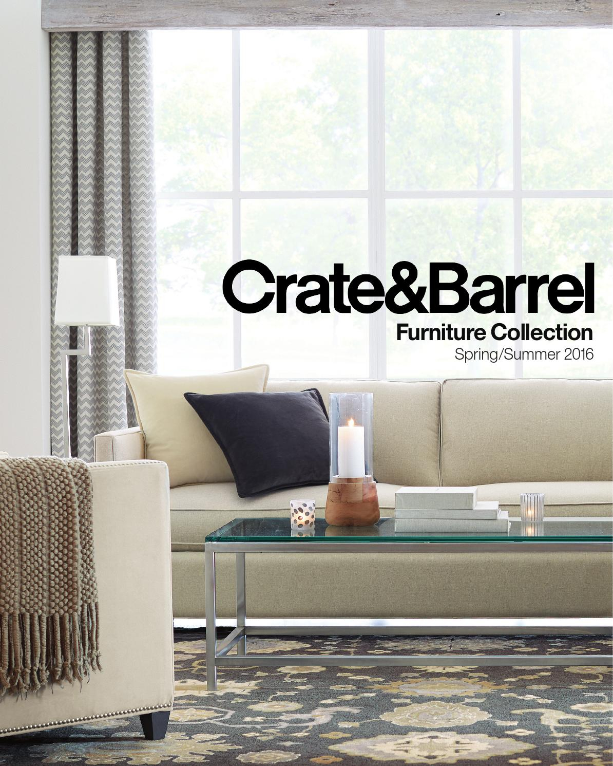 Furniture Resource Guide Spring Summer 2016crate And Barrel With Regard To Elke Glass Console Tables With Polished Aluminum Base (View 20 of 30)