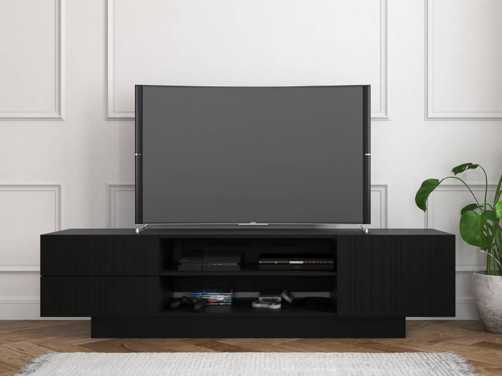 Galleri Tv Stand, 72-Inch, Black - M2Go throughout Murphy 72 Inch Tv Stands (Image 11 of 30)
