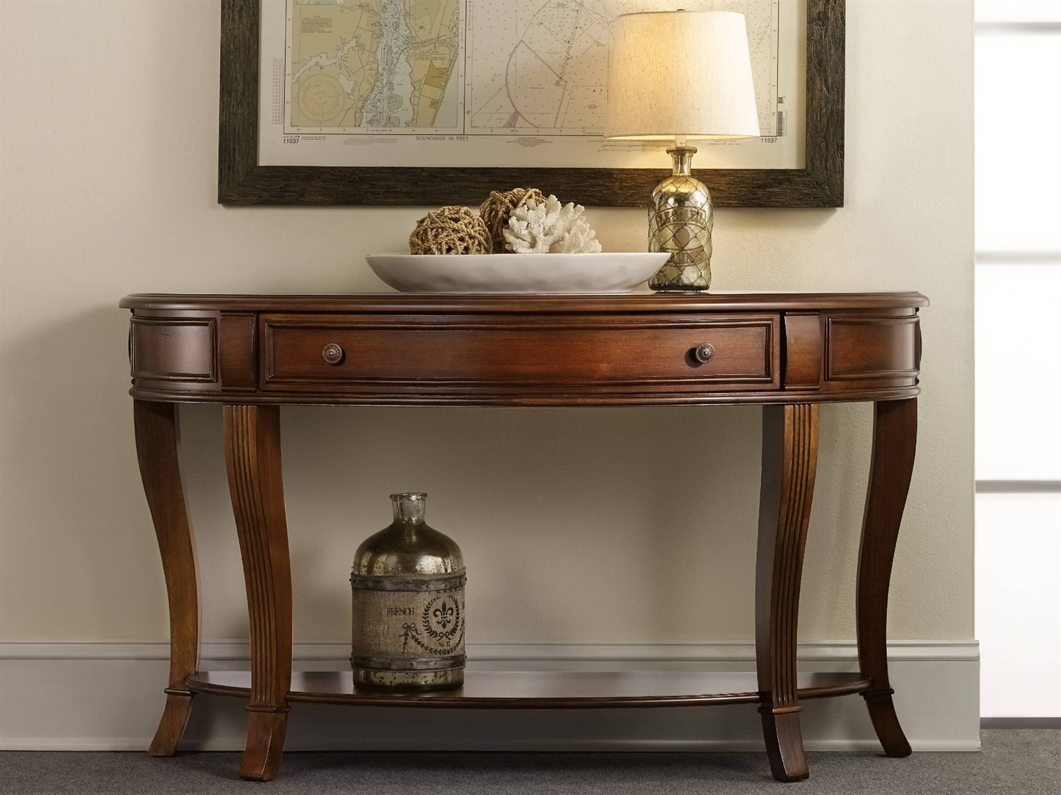 Glass Demilune Console Table — Jherievans for Clairemont Demilune Console Tables (Image 15 of 30)