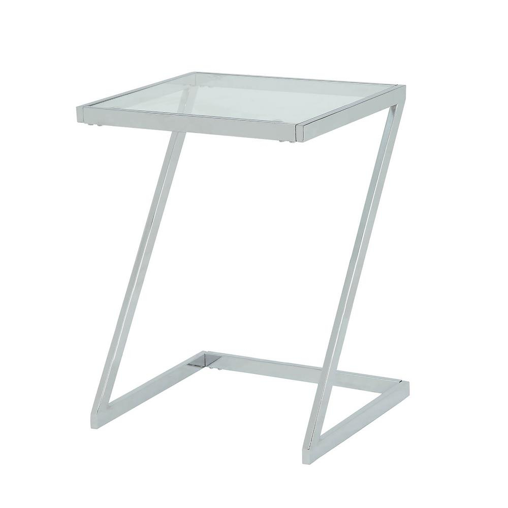 Glass Top Accent Table Metal Base – Glass Decorating Ideas In Parsons Clear Glass Top & Elm Base 48x16 Console Tables (View 24 of 30)