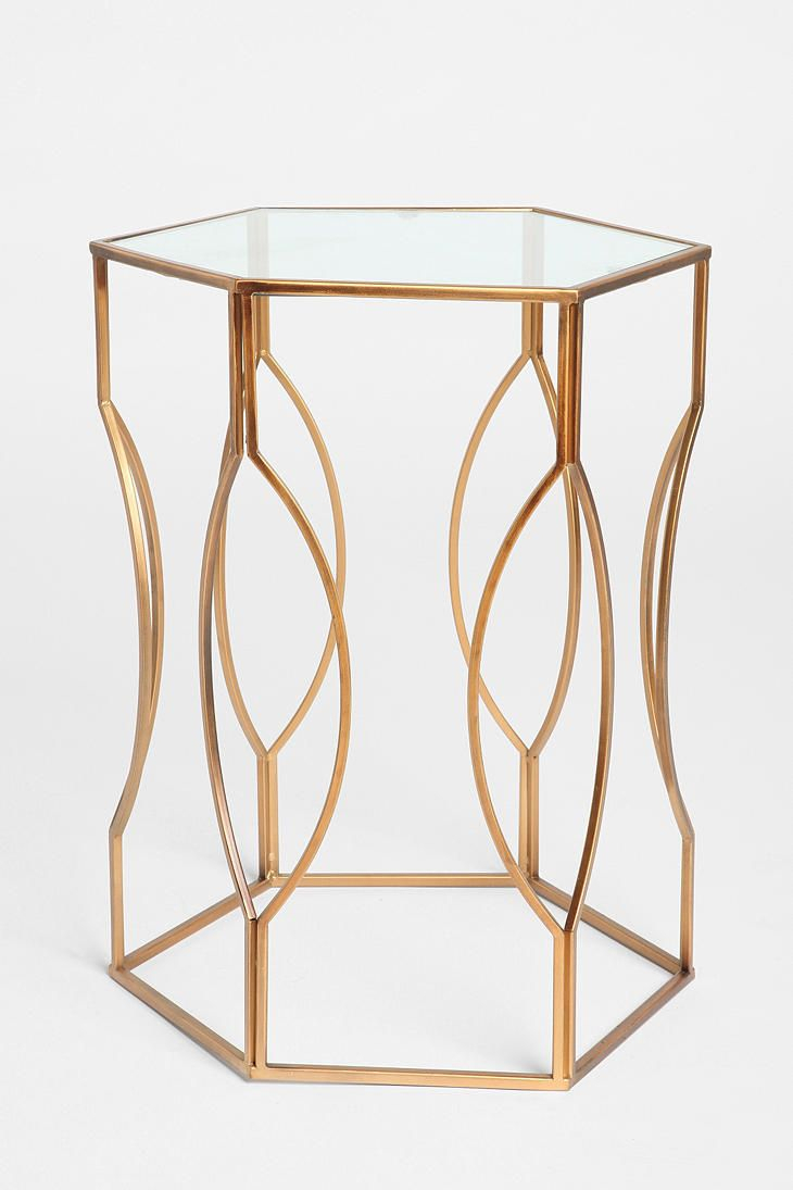 Glass Top Accent Table Metal Base – Glass Decorating Ideas Regarding Parsons Clear Glass Top & Brass Base 48x16 Console Tables (View 16 of 30)