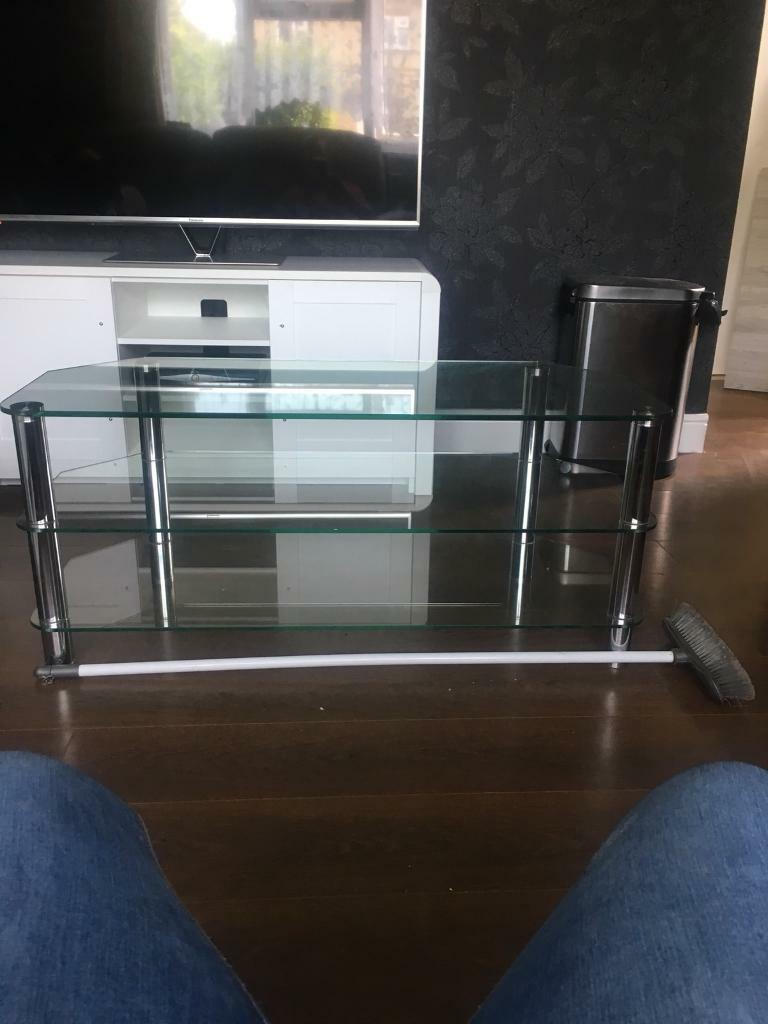 Glass Tv Stand | In Sandy, Bedfordshire | Gumtree For Walton 60 Inch Tv Stands (View 26 of 30)