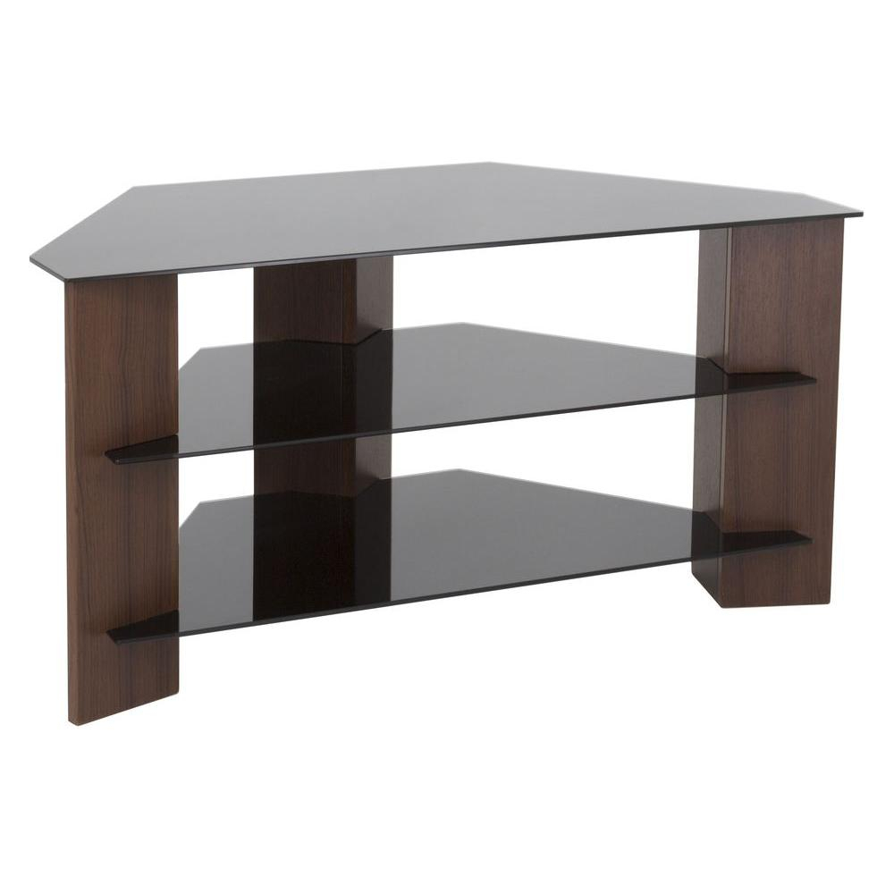 Glass - Tv Stands - Living Room Furniture - The Home Depot in Maddy 50 Inch Tv Stands (Image 7 of 30)