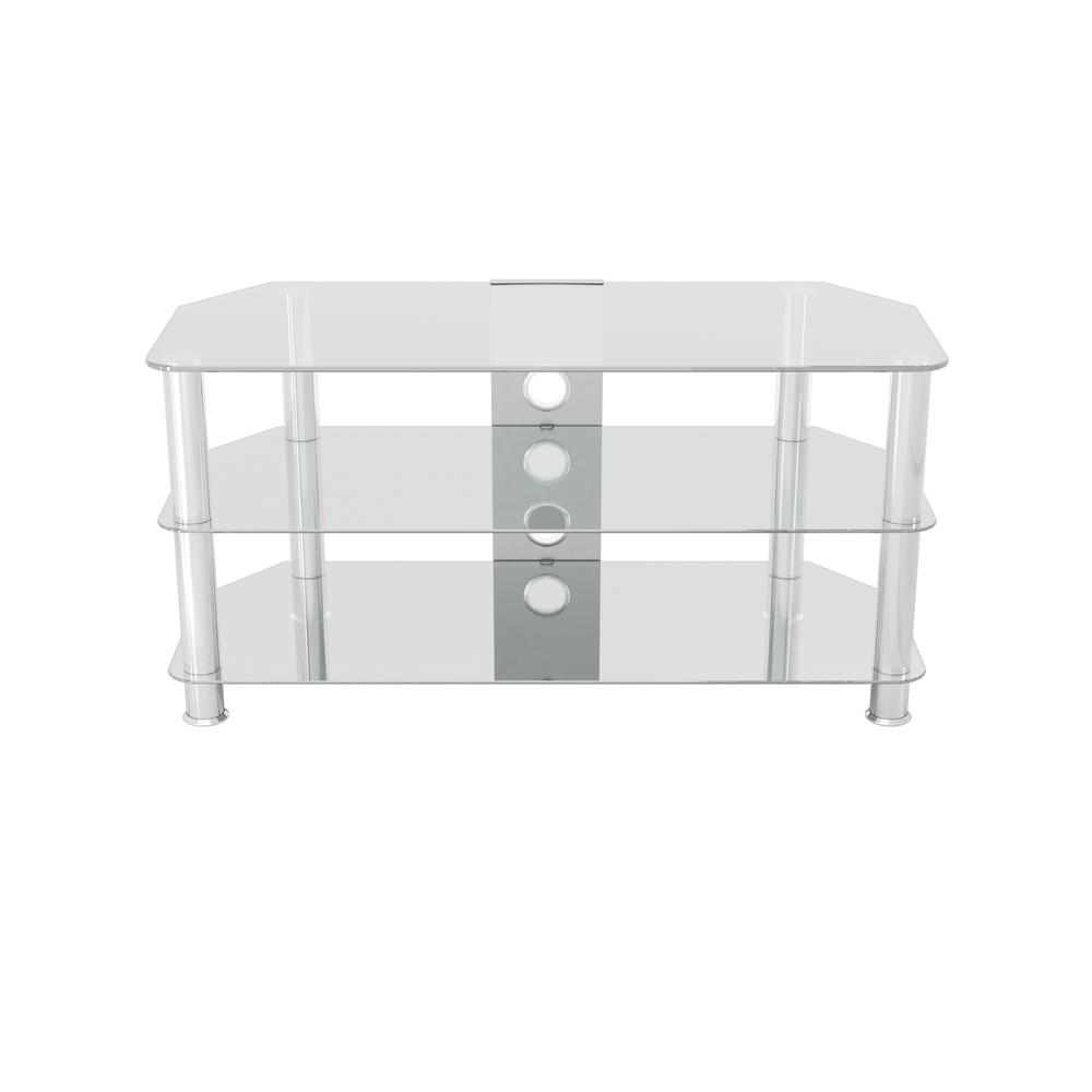 Glass - Tv Stands - Living Room Furniture - The Home Depot with Maddy 70 Inch Tv Stands (Image 8 of 30)