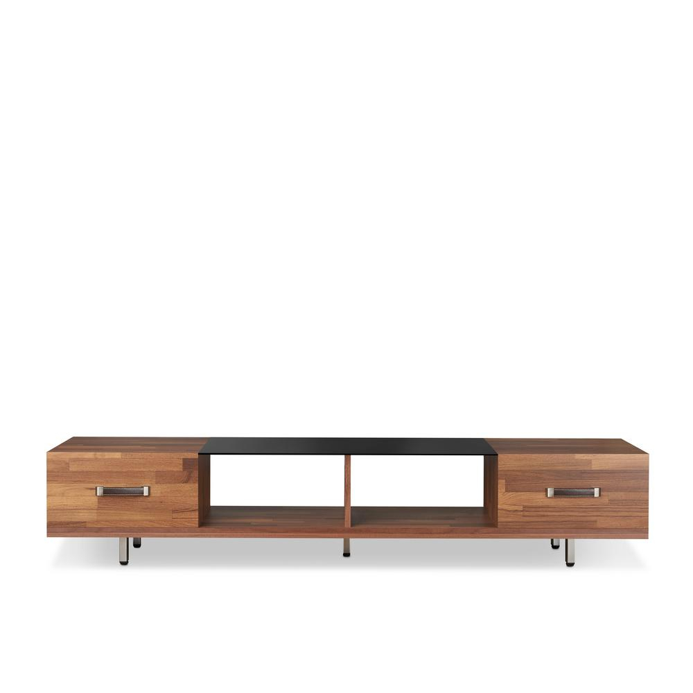 Glass - Tv Stands - Living Room Furniture - The Home Depot with Maddy 70 Inch Tv Stands (Image 7 of 30)