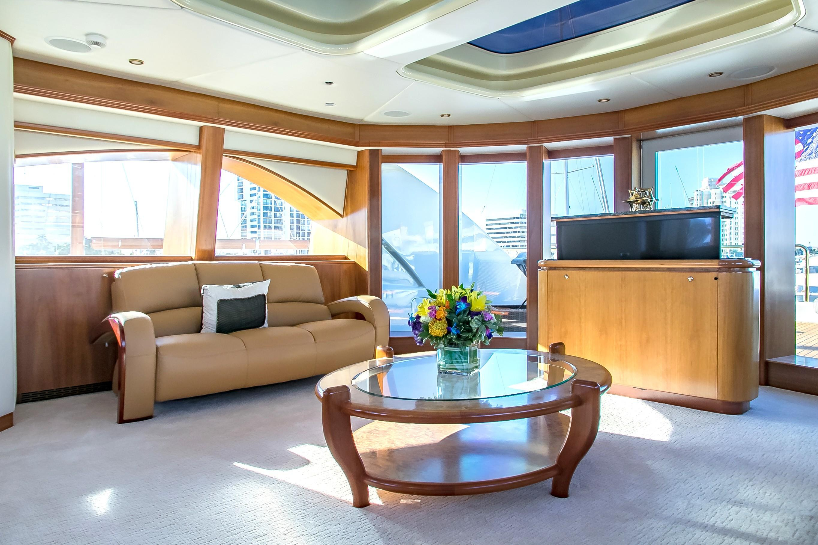 Golden Touch 147 Sensation Yachts 2006 Miami, Florida intended for Mikelson Media Console Tables (Image 12 of 30)