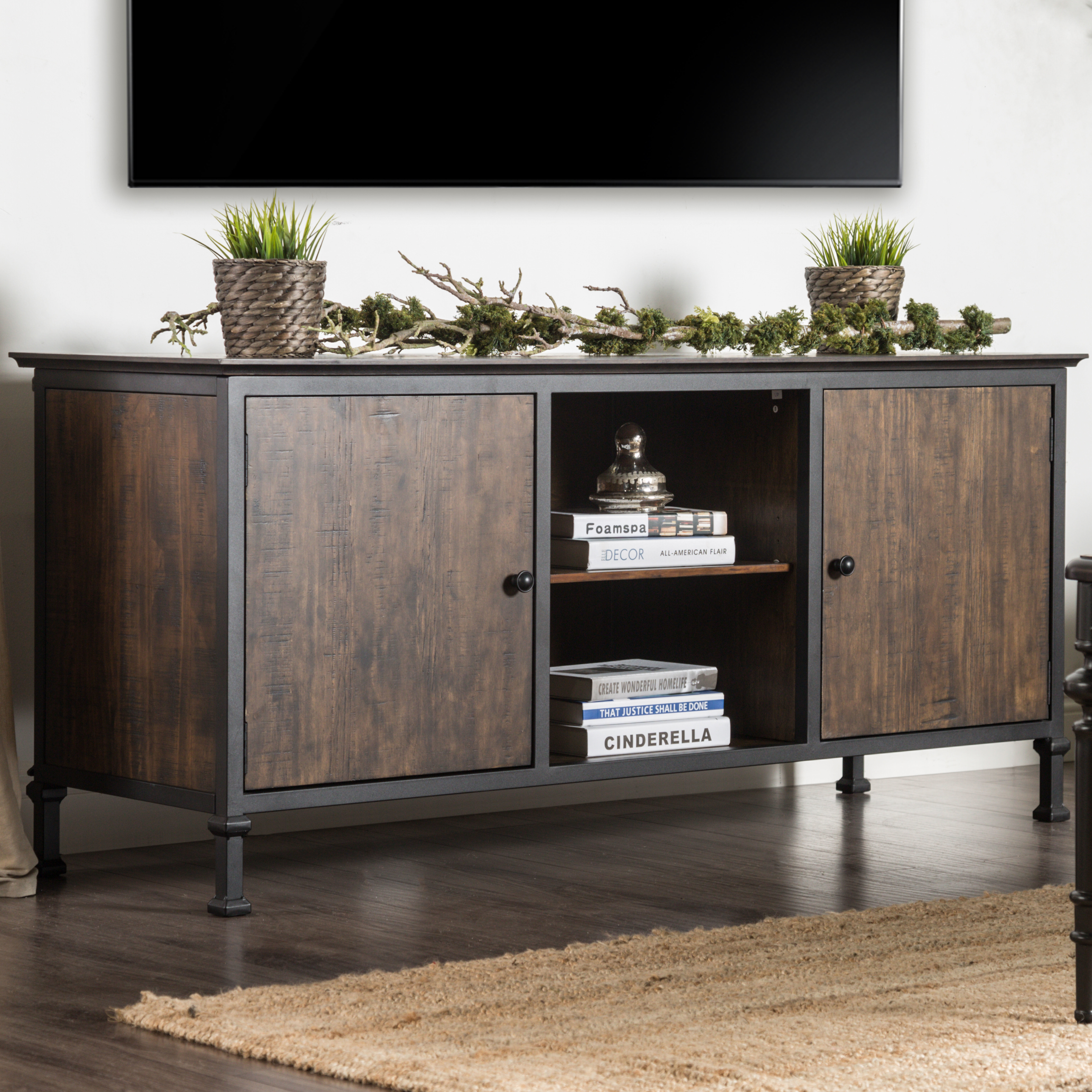 Gracie Oaks Berinda Transitional Tv Stand For Tvs Up To 60 Inside Laurent 60 Inch Tv Stands (View 8 of 30)