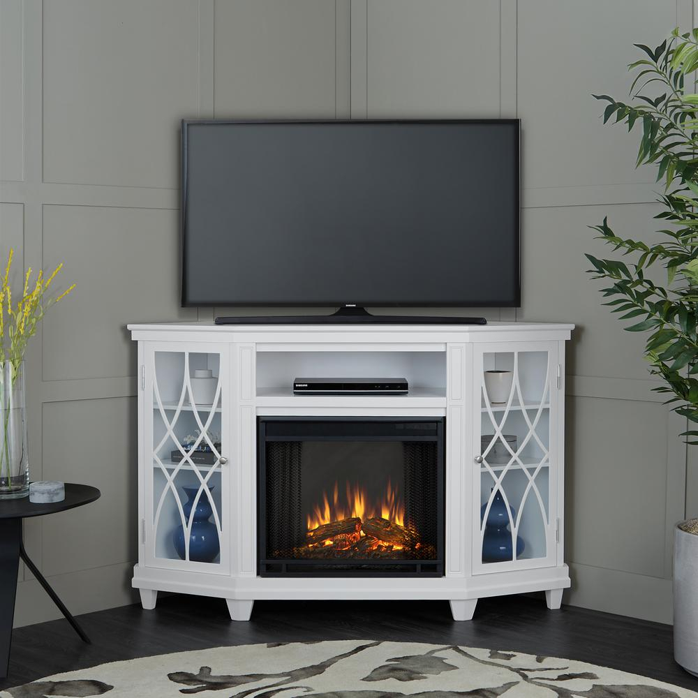 Gray – Electric Fireplaces – Fireplaces – The Home Depot Intended For Kenzie 72 Inch Open Display Tv Stands (View 24 of 30)