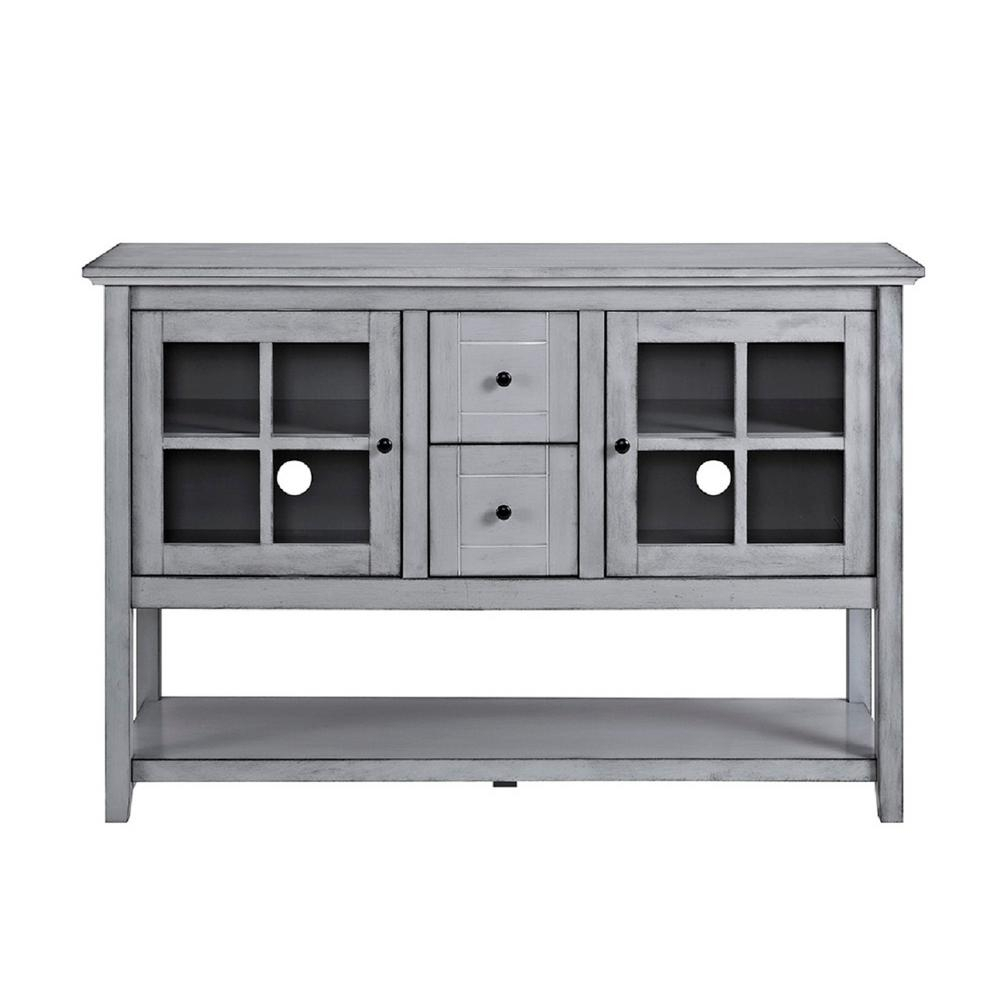 Gray – Sideboards & Buffets – Kitchen & Dining Room Furniture – The For Raven Grey Tv Stands (View 7 of 30)
