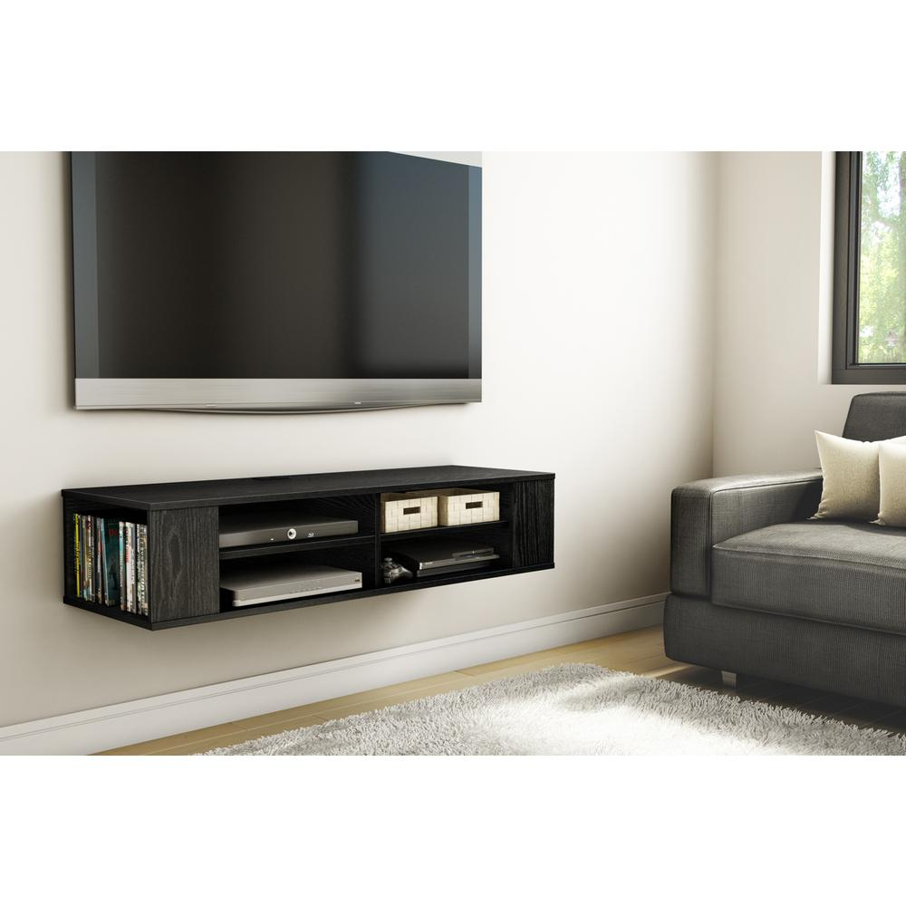 Gray – Tv Stands – Living Room Furniture – The Home Depot Regarding Kenzie 72 Inch Open Display Tv Stands (View 19 of 30)