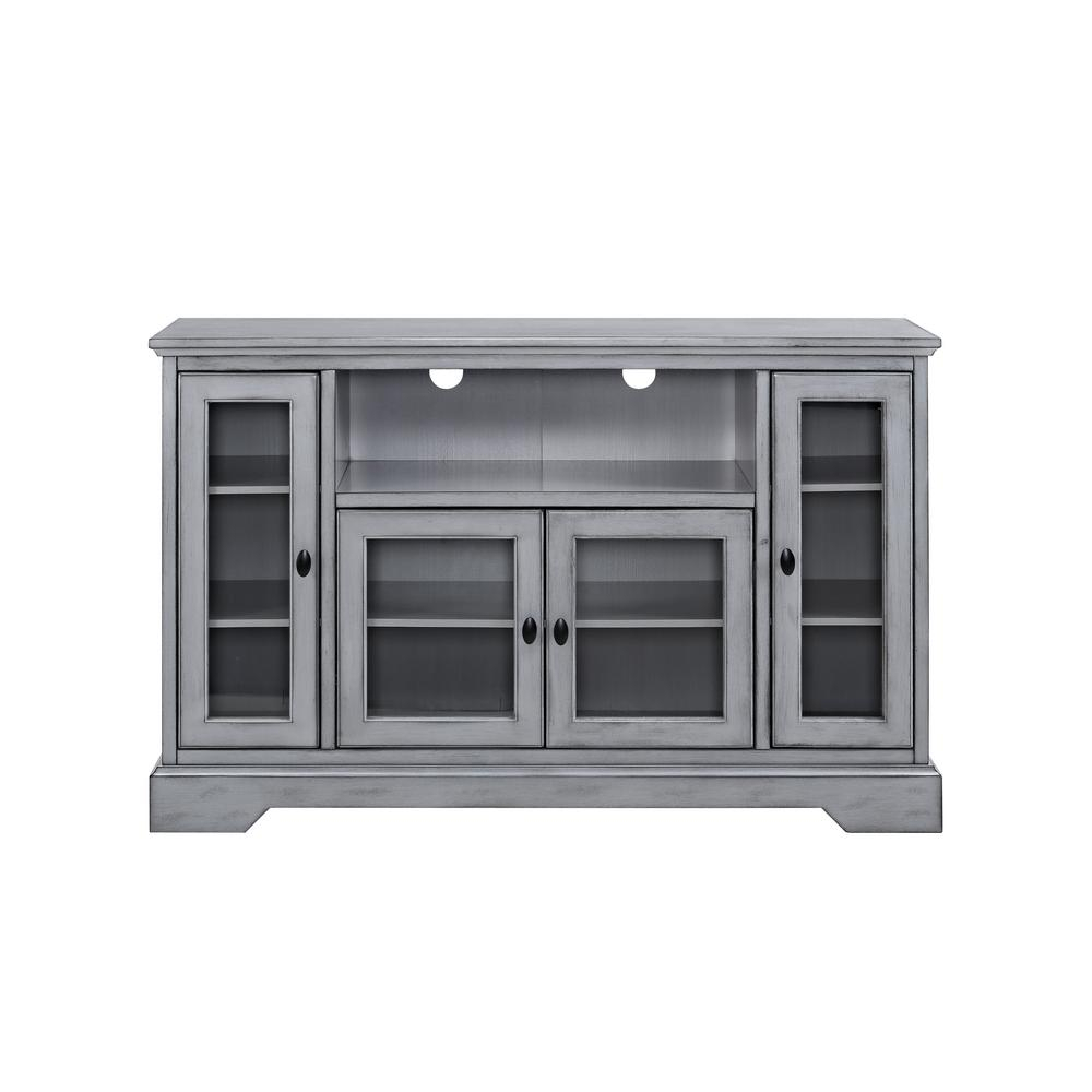 Gray – Tv Stands – Living Room Furniture – The Home Depot With Kenzie 72 Inch Open Display Tv Stands (View 12 of 30)