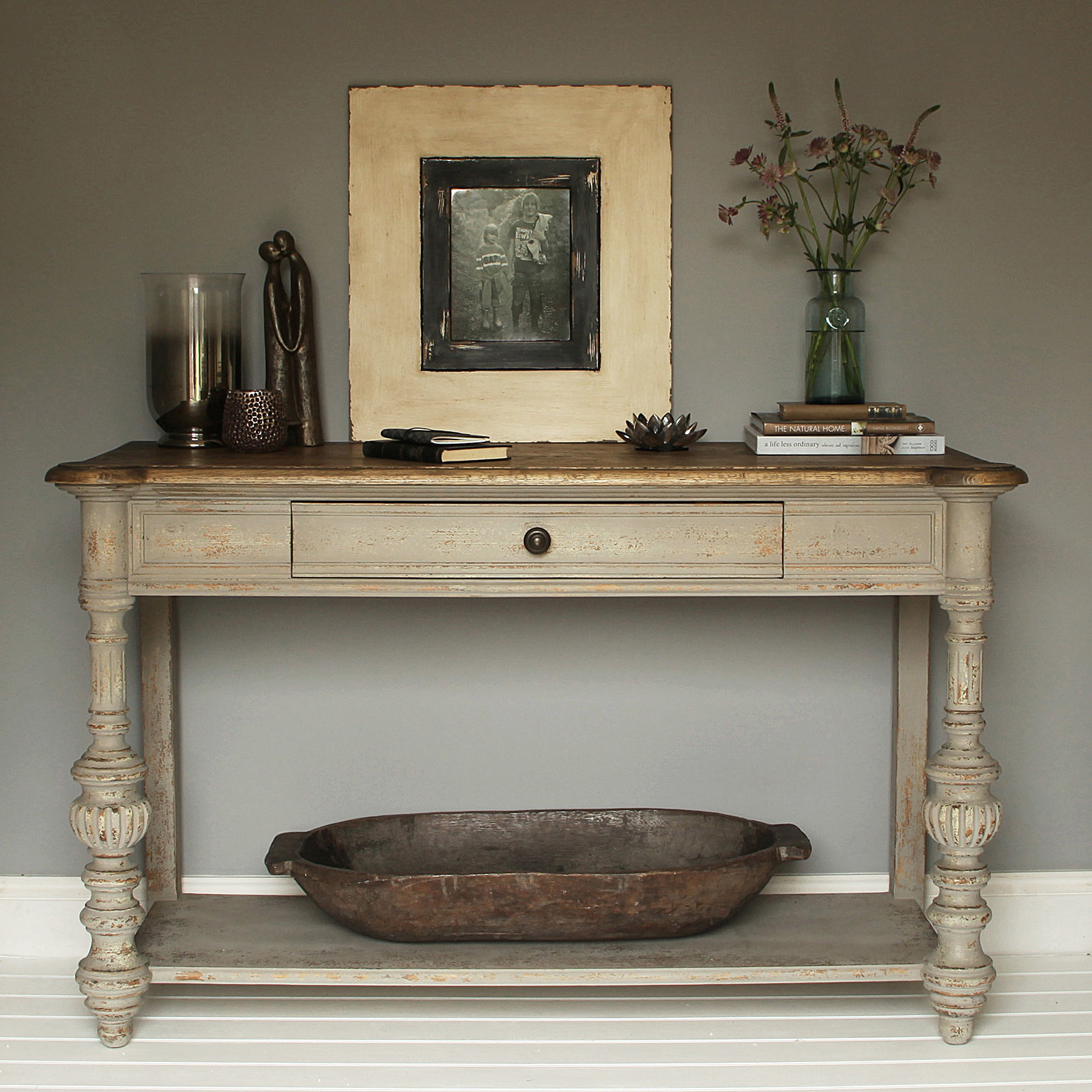 Grey Distressed Console Table Console Table Classic Lacquer Console inside Antique White Distressed Console Tables (Image 12 of 30)