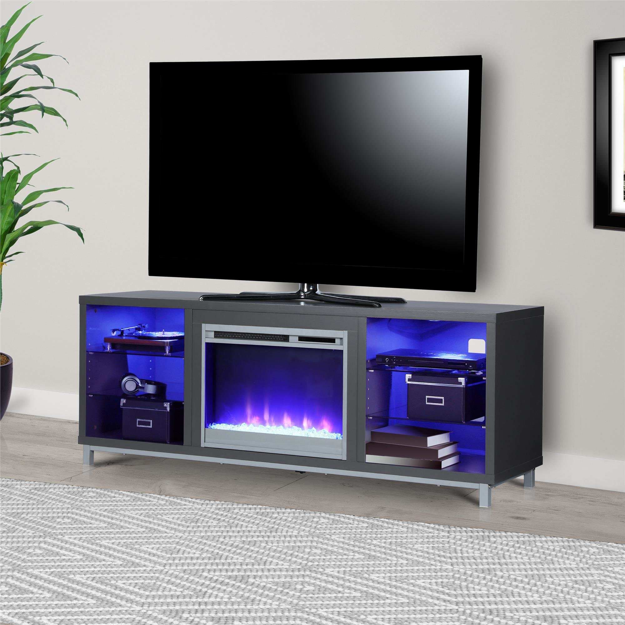 Grey Tv Stand Tv Stands & Entertainment Centers You'll Love | Wayfair in Walton 74 Inch Open Tv Stands (Image 13 of 30)