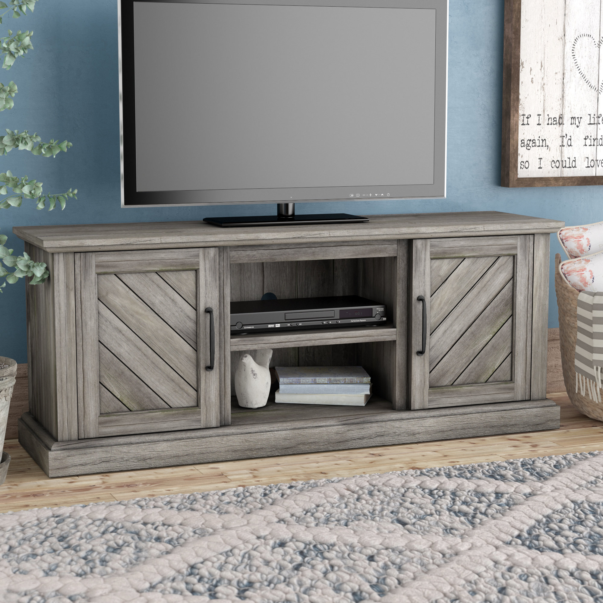 Grey Tv Stands | Birch Lane In Sinclair Grey 74 Inch Tv Stands (View 12 of 30)