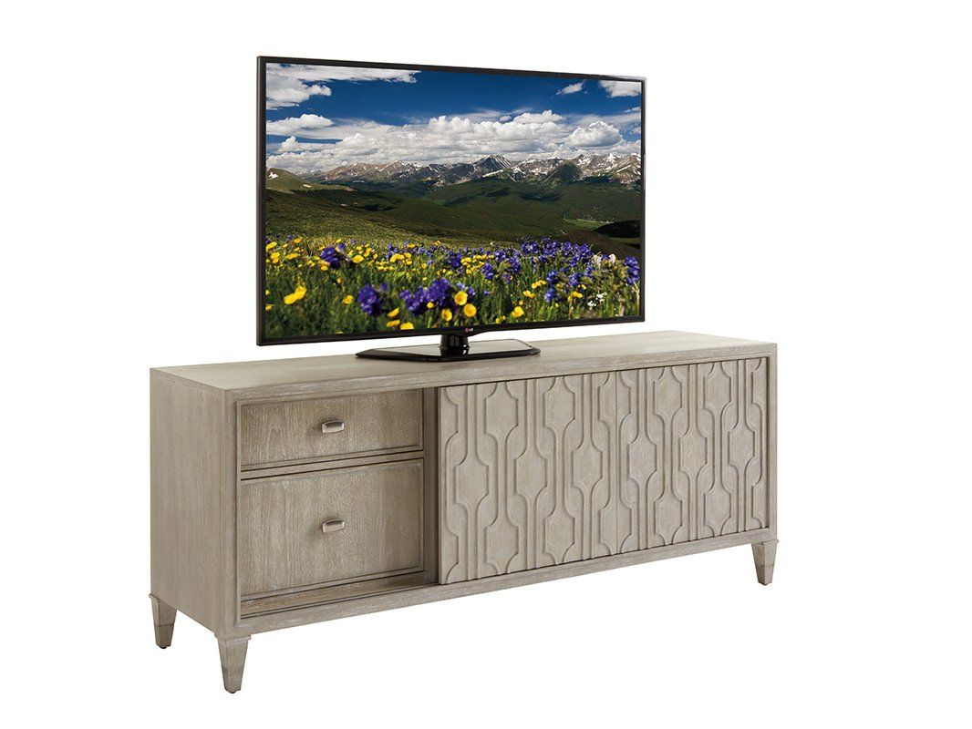 Greystone Tv Stand In 2018 | Geegee | Pinterest | Media Center, Tv Within Gunmetal Perforated Brass Media Console Tables (View 13 of 30)
