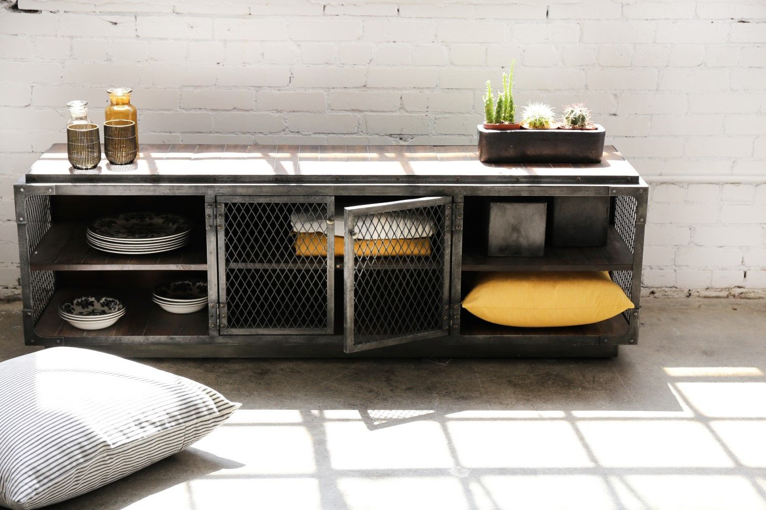 Gunmetal Tv Stand – Google Search | Home Interior Ideas | Tv With Regard To Gunmetal Perforated Brass Media Console Tables (View 21 of 30)