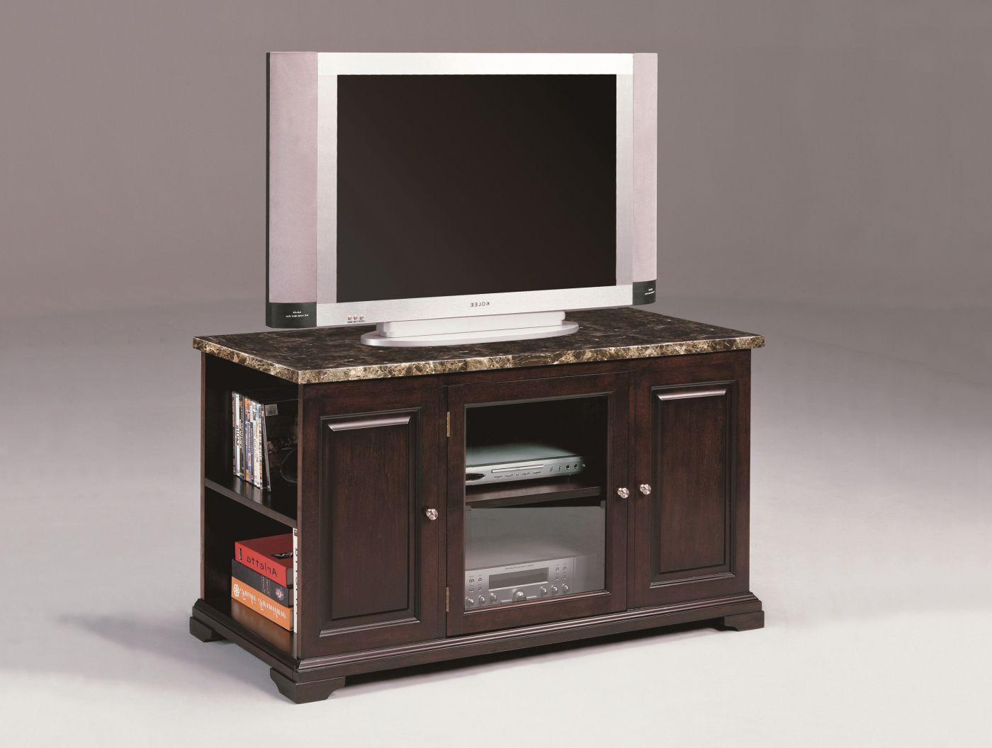 Harris Small Marble Espresso Console – Plasma With Regard To Draper 62 Inch Tv Stands (View 2 of 30)