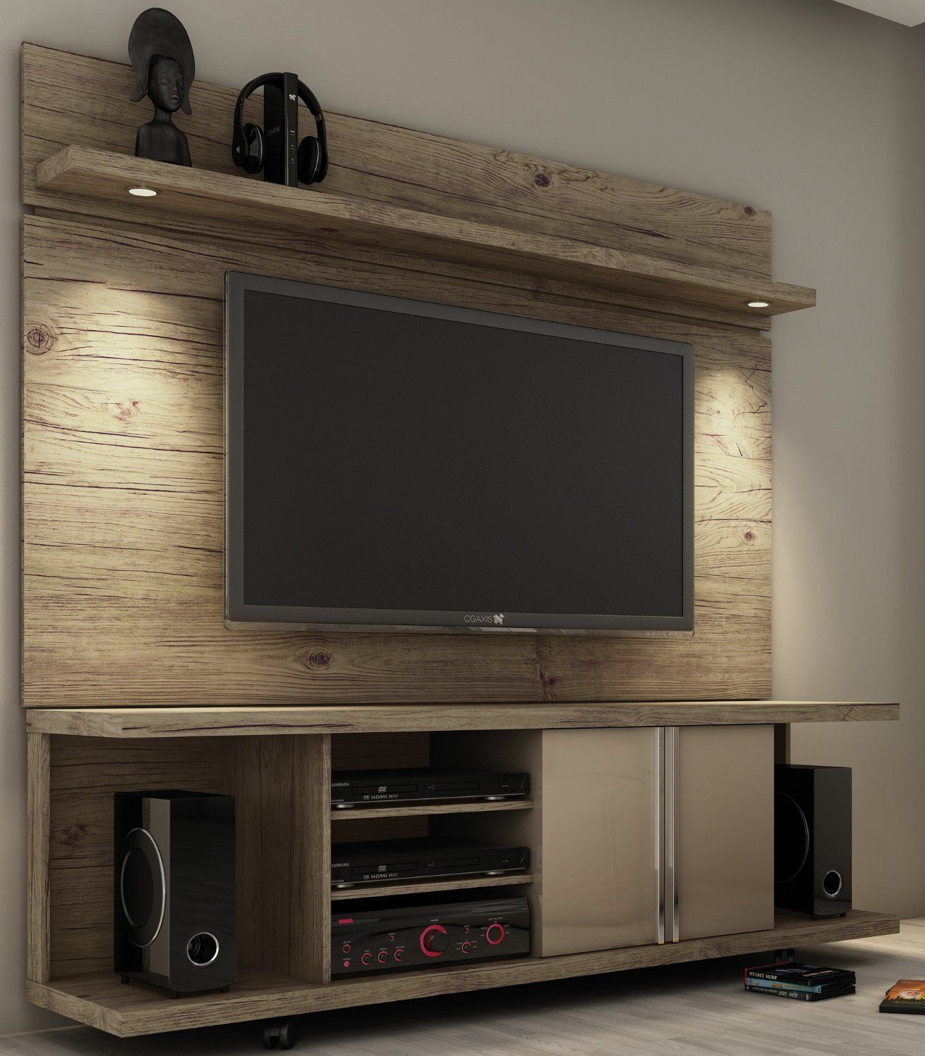Have Pops Construct Something Like This For Me With Reclaimed Wood Inside Cato 60 Inch Tv Stands (View 2 of 30)