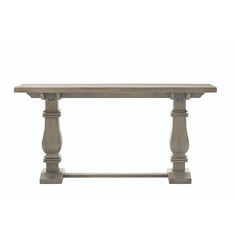Home Decorators Collection Aldridge Antique Grey Console Table Nb Inside Hand Carved White Wash Console Tables (View 16 of 30)