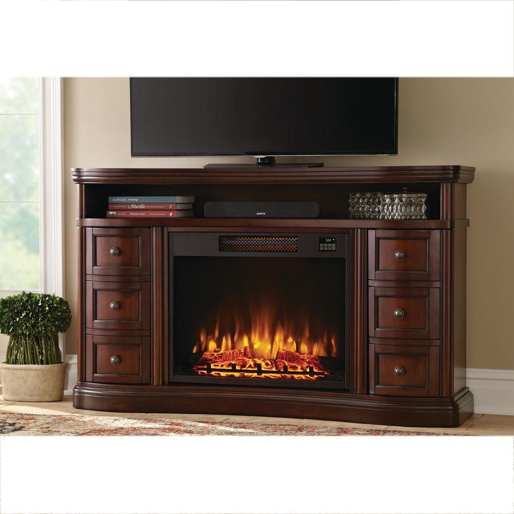 Home Decorators Collection Charleston 60 In. Tv Stand Electric throughout Oxford 60 Inch Tv Stands (Image 17 of 30)