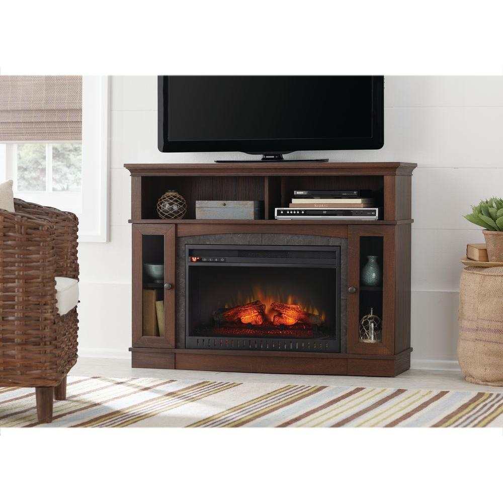 Home Decorators Collection Grafton 46 In. Tv Stand Infrared Electric for Wyatt 68 Inch Tv Stands (Image 10 of 30)