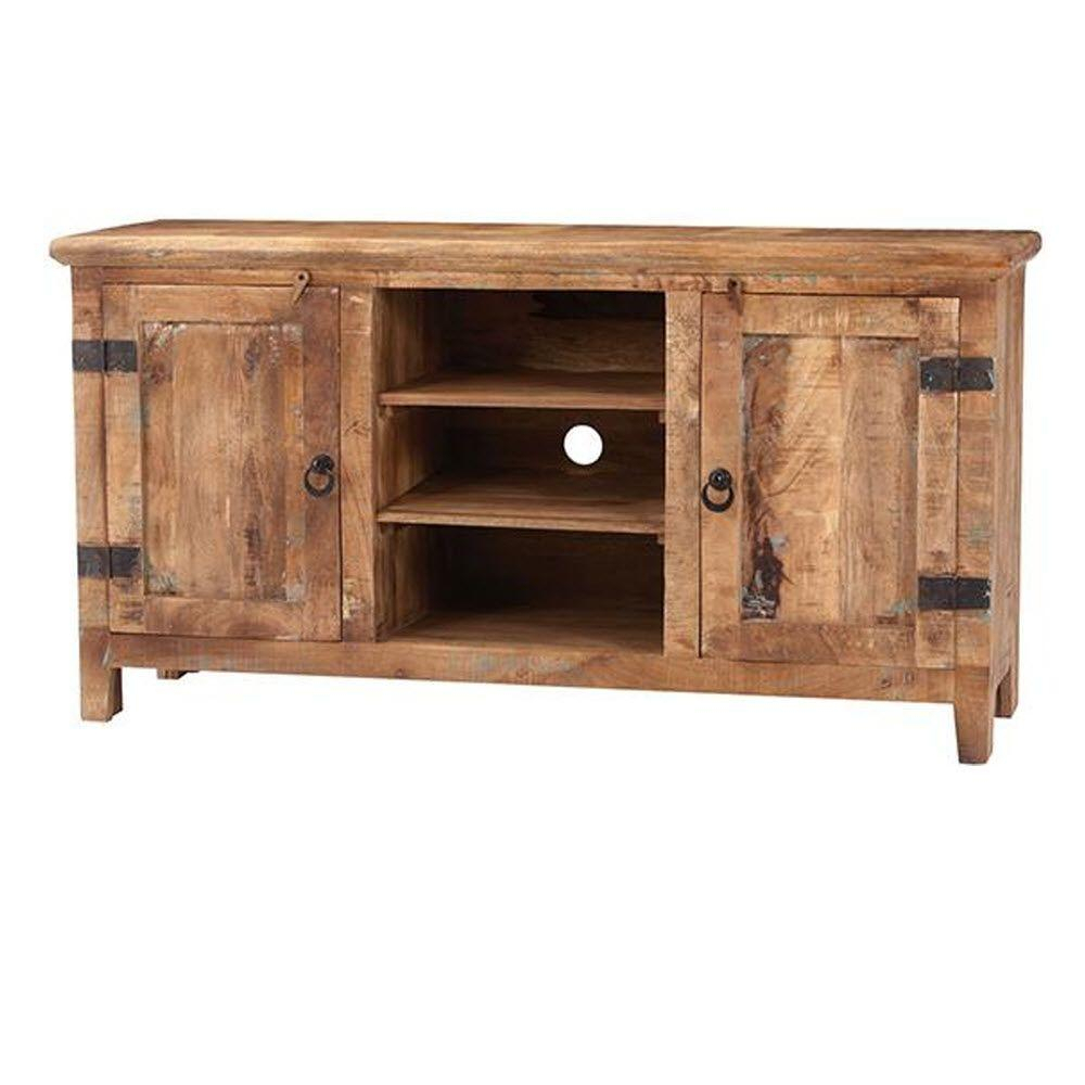 Home Decorators Collection Holbrook Natural Reclaimed Entertainment Regarding Natural 2 Door Plasma Console Tables (View 7 of 30)