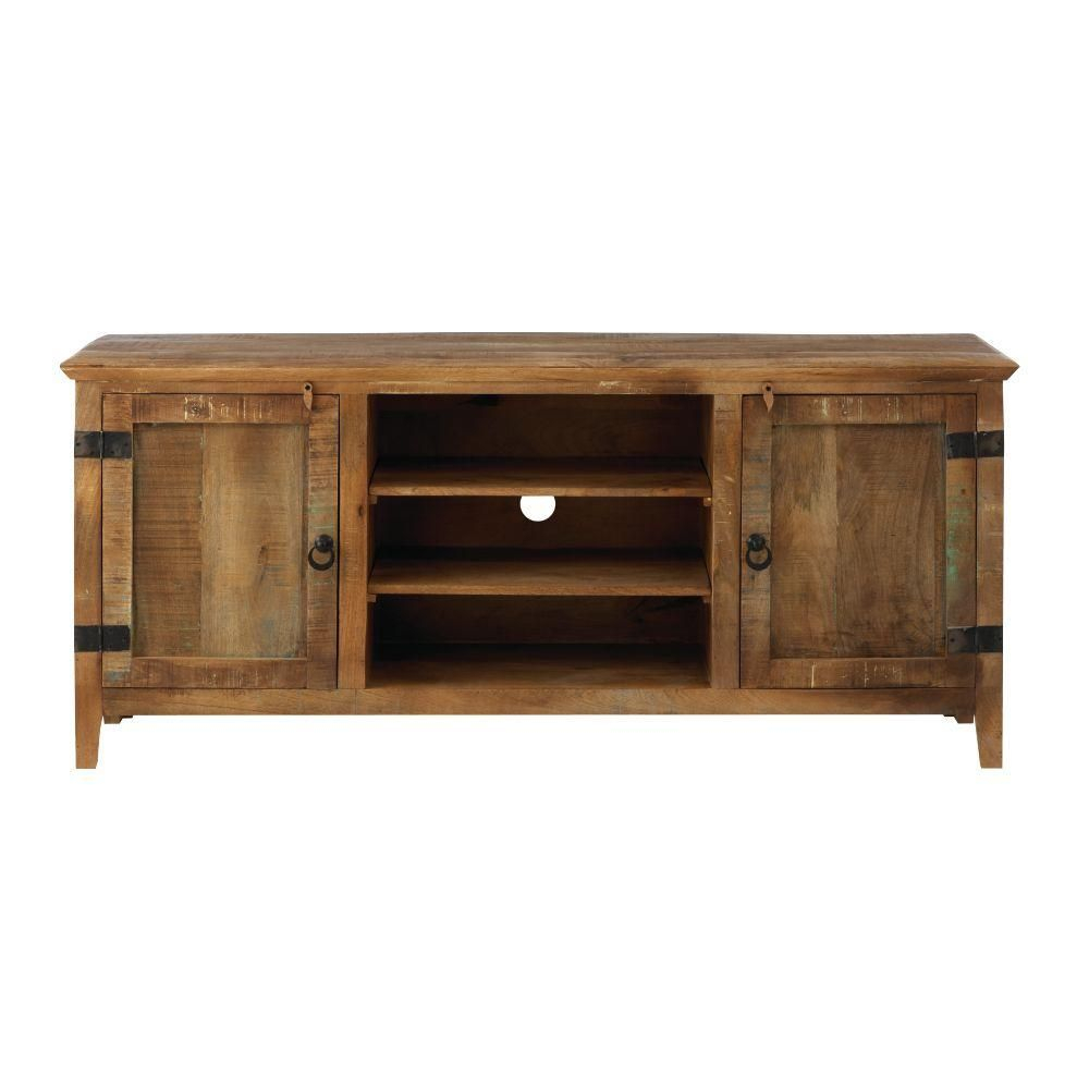 Home Decorators Collection Holbrook Natural Reclaimed Storage Within Wakefield 97 Inch Tv Stands (View 5 of 30)