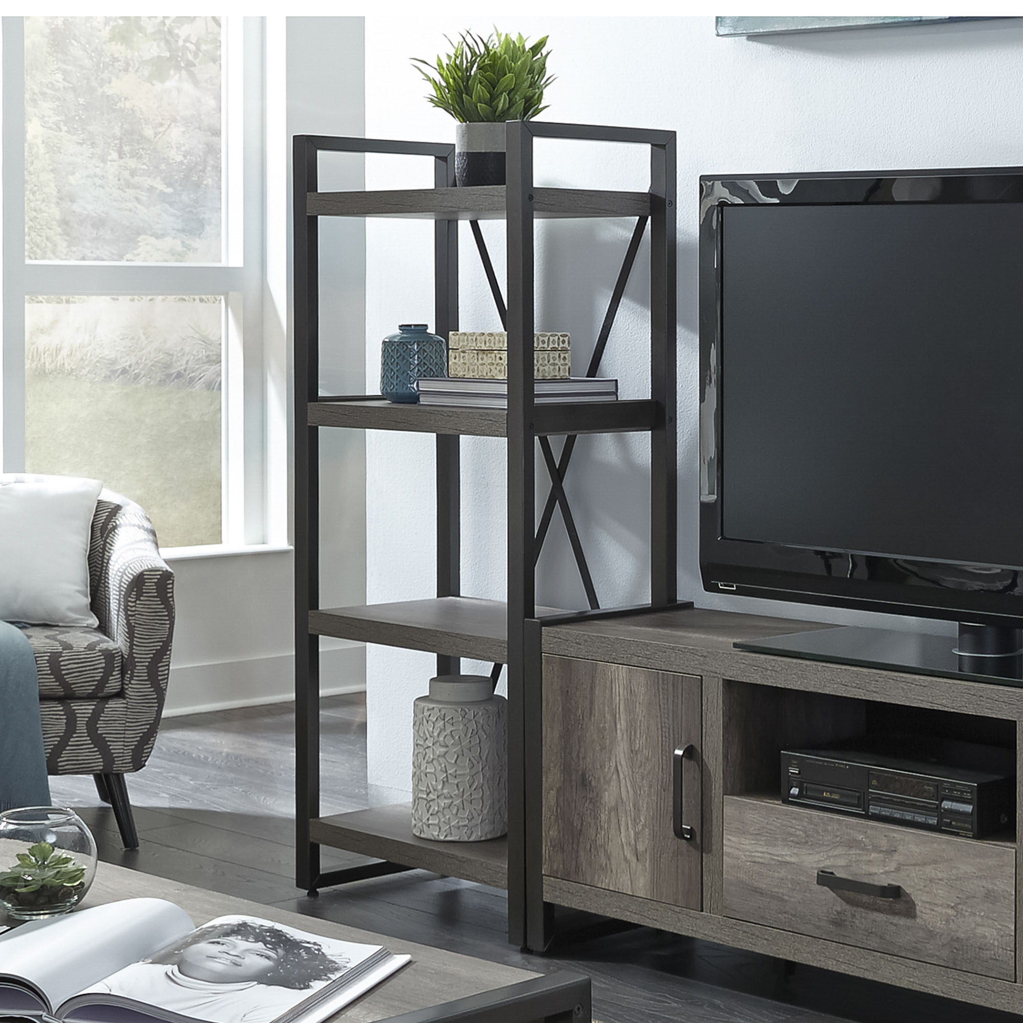 Home Entertainment Center, Entertainment Furniture| Liberty Furniture With Abbott Driftwood 60 Inch Tv Stands (View 18 of 30)