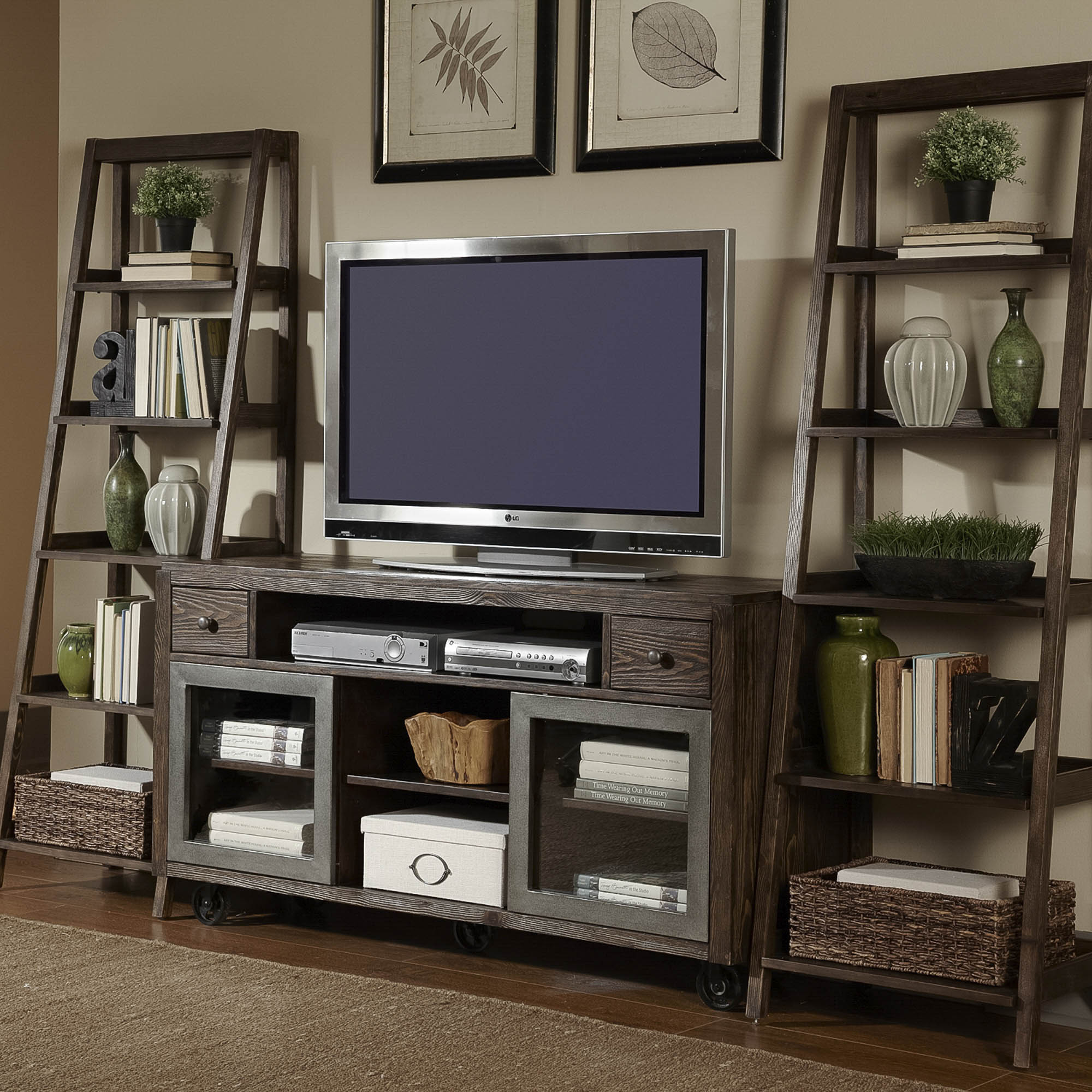 Home Entertainment Center, Entertainment Furniture  Liberty Furniture within Abbott Driftwood 60 Inch Tv Stands (Image 23 of 30)