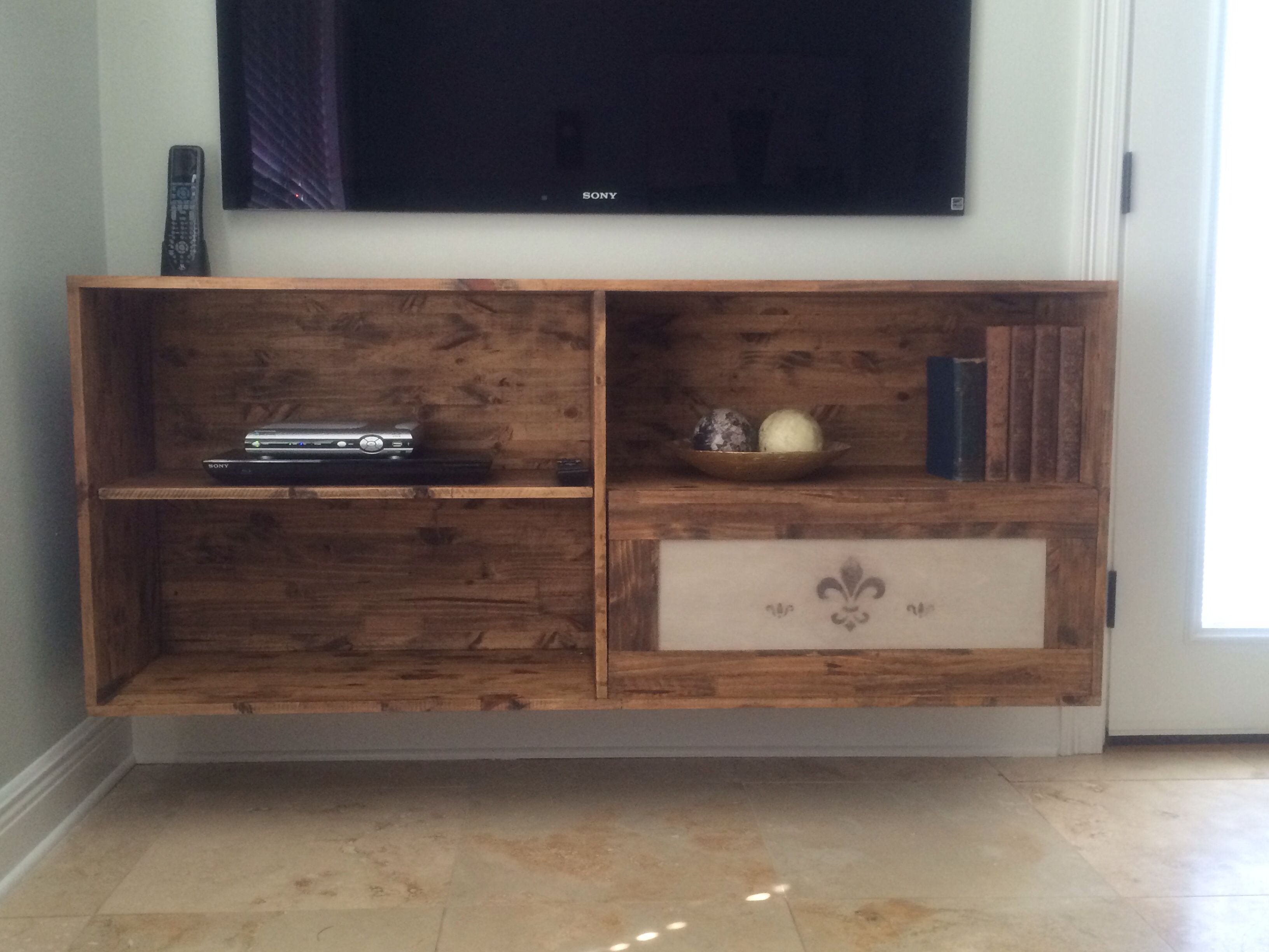 Homemade Floating Tv Stand. | Tv Stand | Pinterest | Diy Tv Stand with regard to Marvin Rustic Natural 60 Inch Tv Stands (Image 12 of 30)