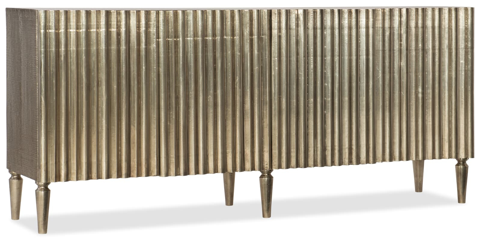 """Hooker Furniture 5637 85001 Slv 78"""" Wide Wood Sofa Table German Inside Gunmetal Perforated Brass Media Console Tables (View 18 of 30)"""