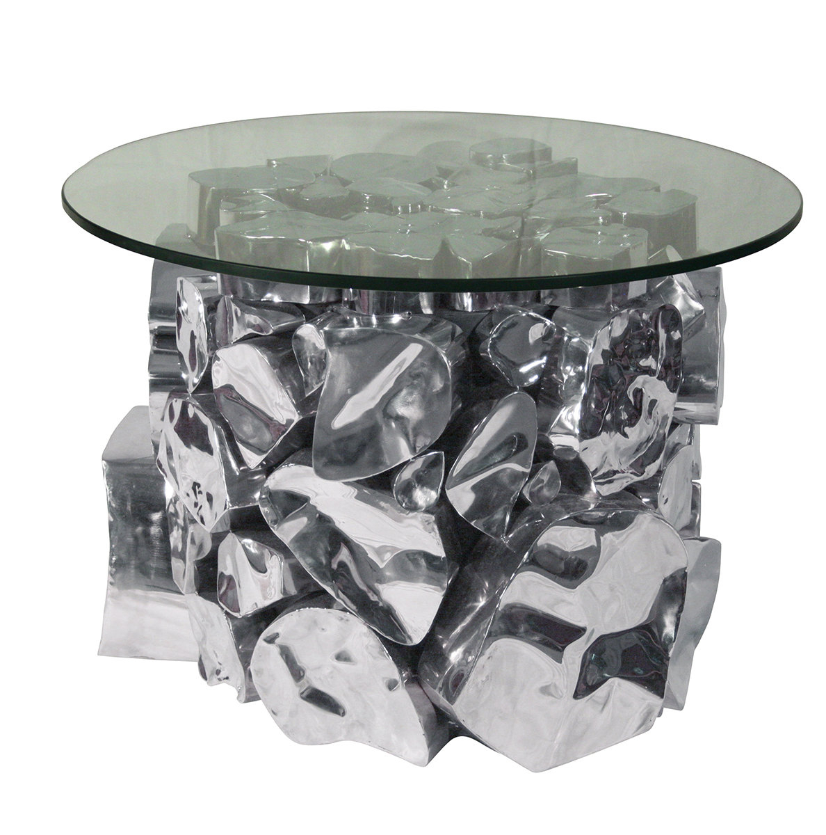 Ibolili Agate End Table | Wayfair in Mix Agate Metal Frame Console Tables (Image 15 of 30)