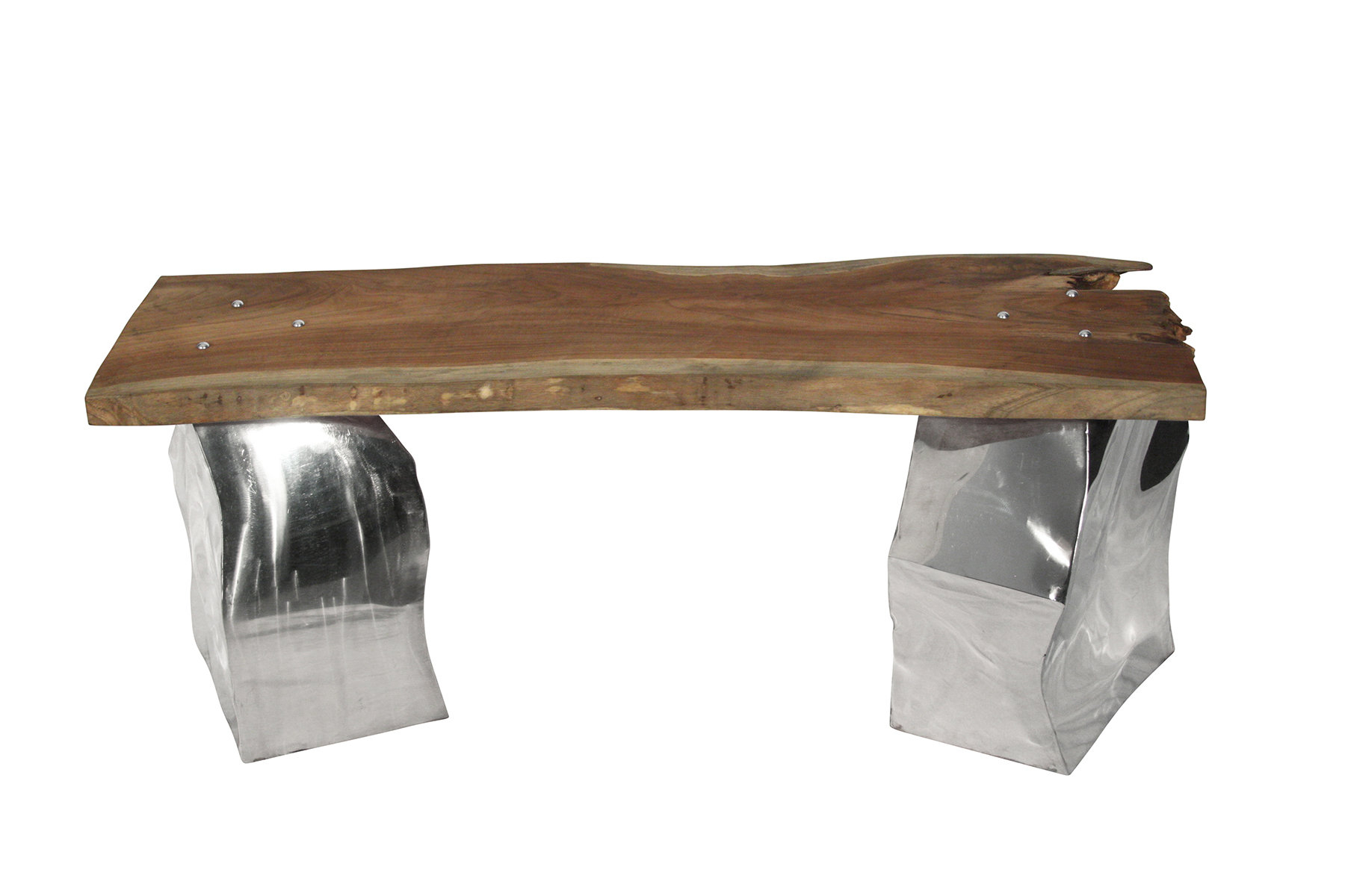 Ibolili Agate Metal Entryway Bench With Teak Seat | Wayfair in Mix Agate Metal Frame Console Tables (Image 16 of 30)