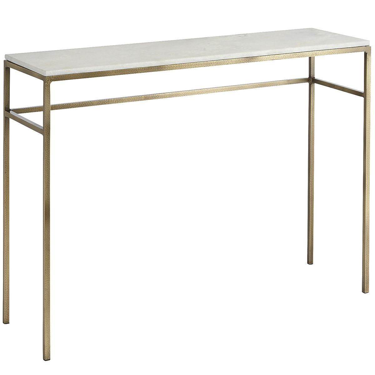 If You're Looking For A Way To Elevate Your Living Space, Ethel Inside Elke Glass Console Tables With Brass Base (View 12 of 30)