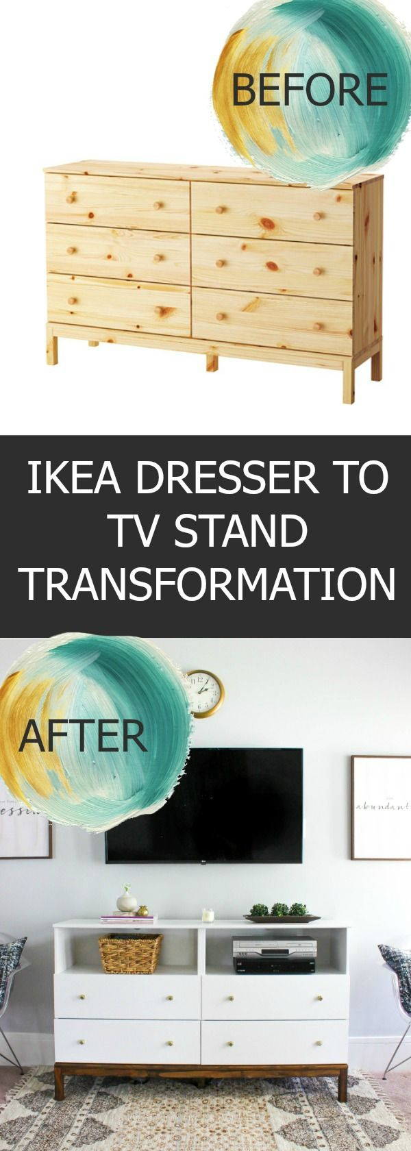 Ikea Dresser To Tv Stand Transformation   Decorating Fun   Ikea Throughout Bale 82 Inch Tv Stands (View 17 of 30)
