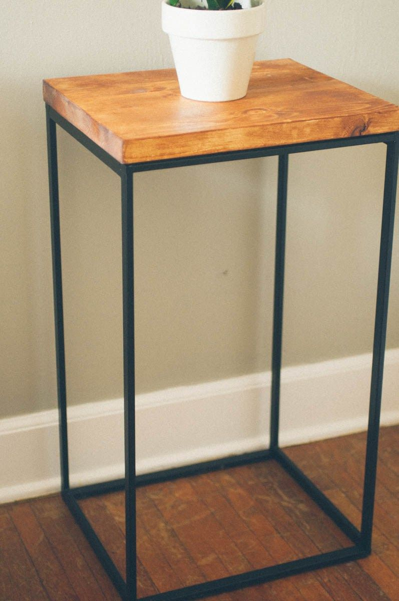 Ikea Hack - Making A Side Table. Use Metal Frame From Ikea Laundry for Mix Patina Metal Frame Console Tables (Image 10 of 30)