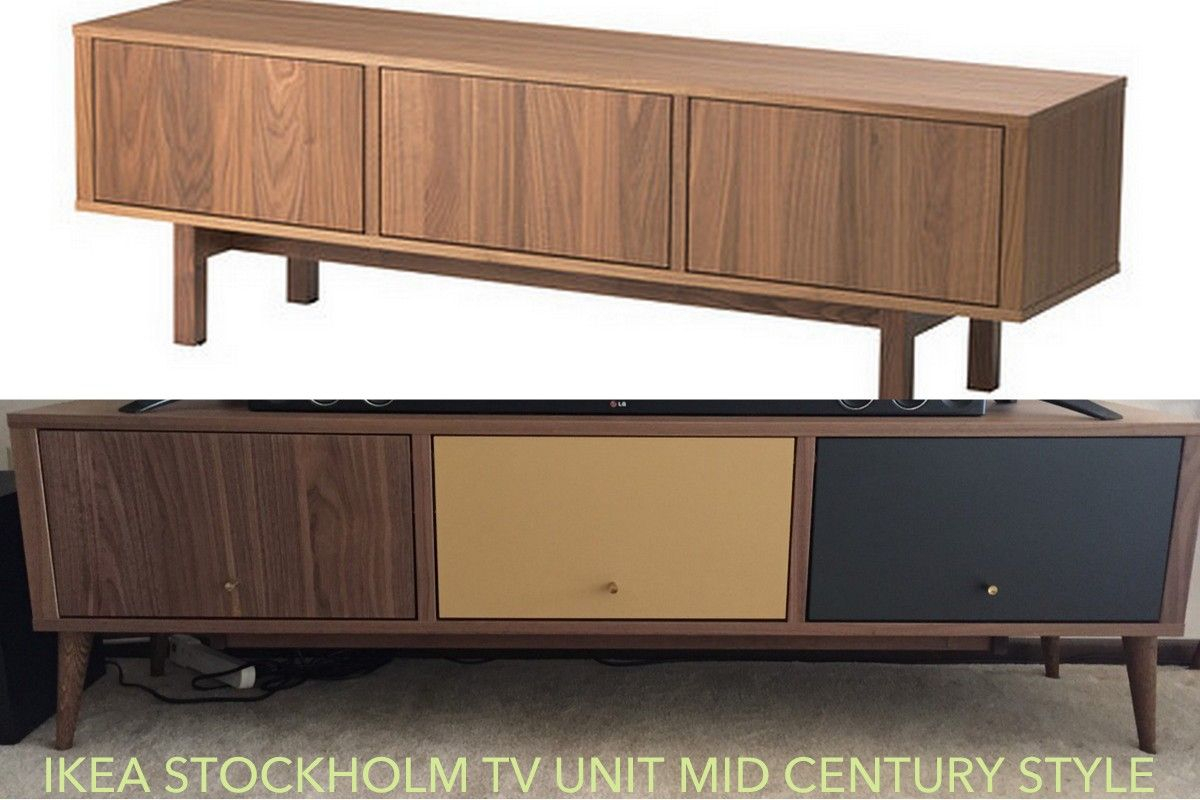 Ikea Stockholm Mid Century Tv Stand Redo | House Things | Ikea, Ikea Regarding Century Sky 60 Inch Tv Stands (View 15 of 30)