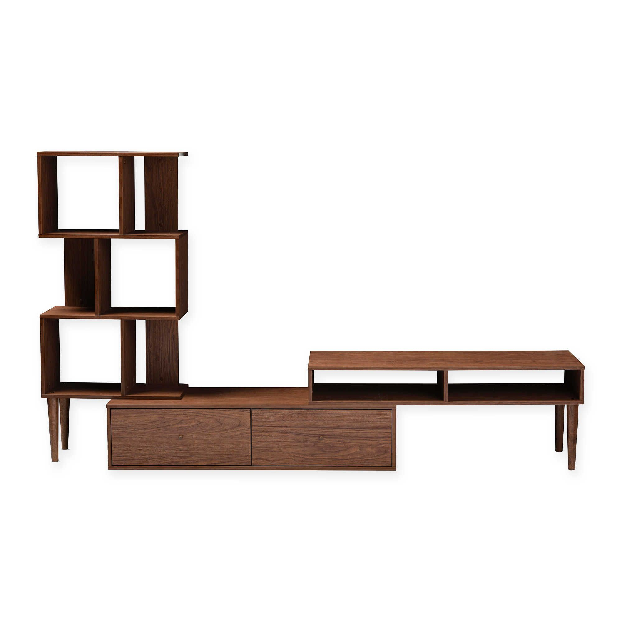 Ikea Tv Stand Baxton Studio White Cabinet Mid Century Medium Brown With Dixon White 65 Inch Tv Stands (View 9 of 30)