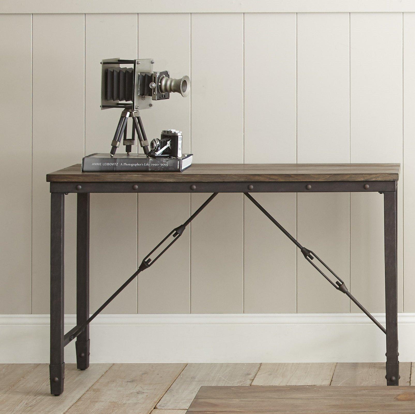 Industrial Console Tables You'll Love | Wayfair Regarding Parsons Concrete Top & Elm Base 48x16 Console Tables (View 16 of 30)