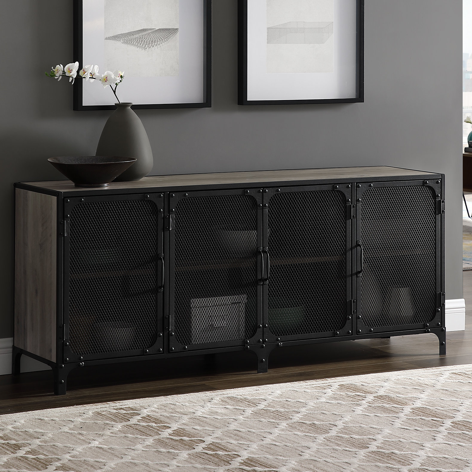 Industrial Tv Stands You'll Love | Wayfair intended for Walton Grey 72 Inch Tv Stands (Image 14 of 30)