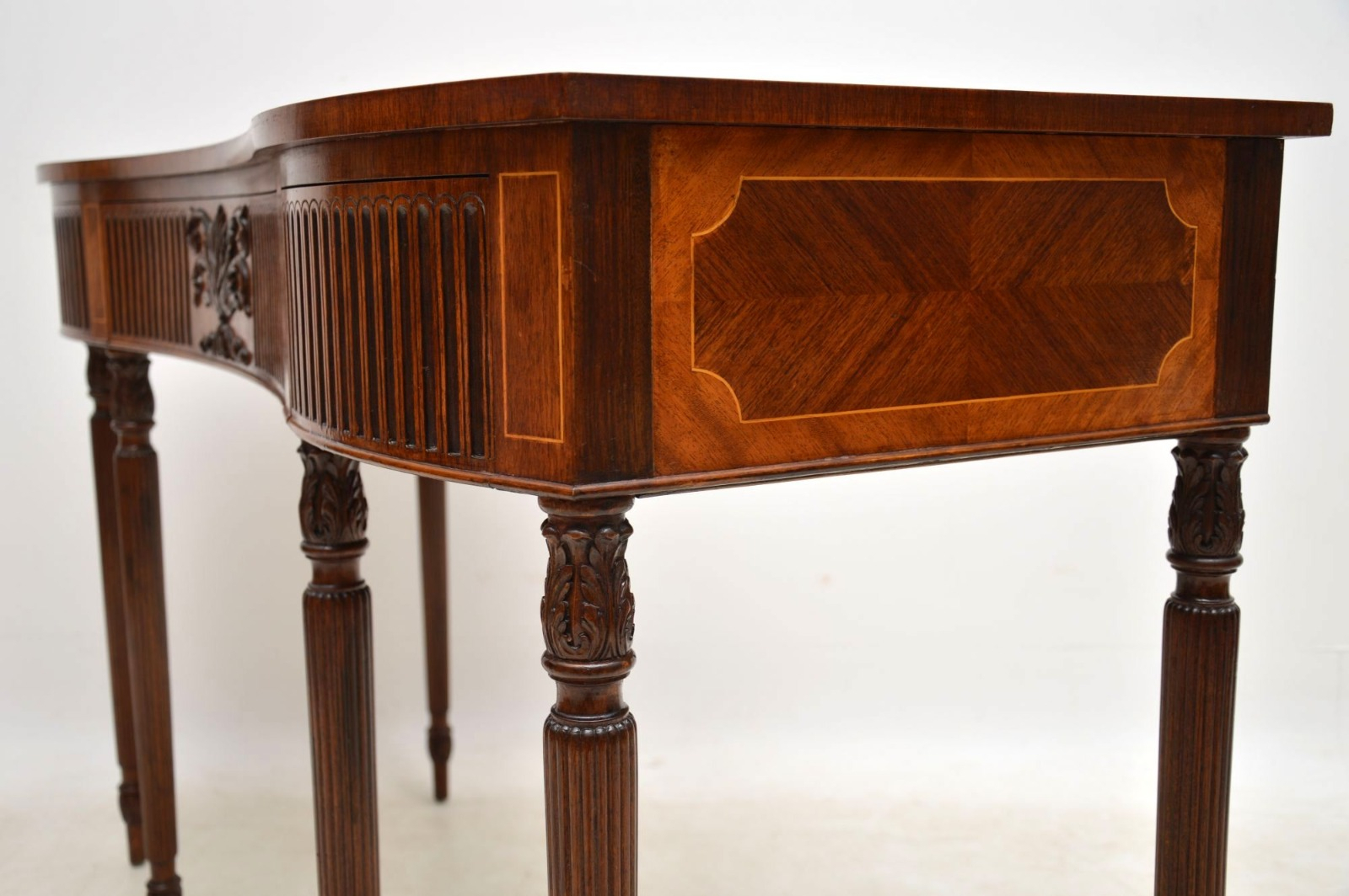 Inlaid Mahogany & Kingwood Server Console Table C (View 18 of 30)