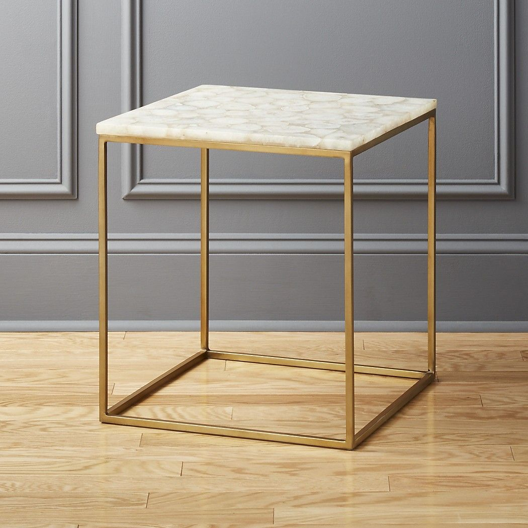 Iris White Agate Side Table In 2018 | Coffee Tables | Pinterest with Mix Agate Metal Frame Console Tables (Image 18 of 30)