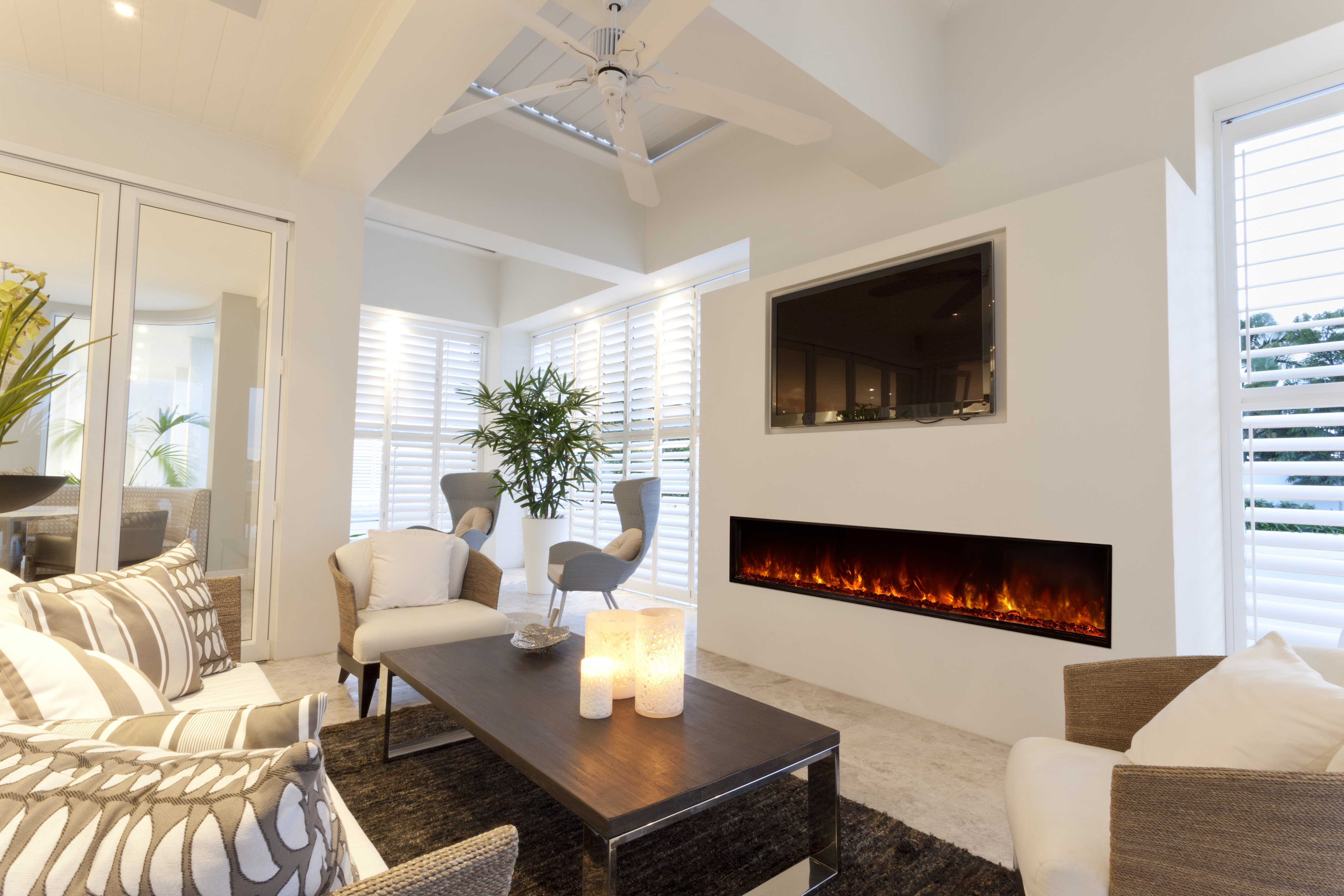 Is An Electric Fireplace Worth The Money? | Angie's List with Marvin Rustic Natural 60 Inch Tv Stands (Image 13 of 30)