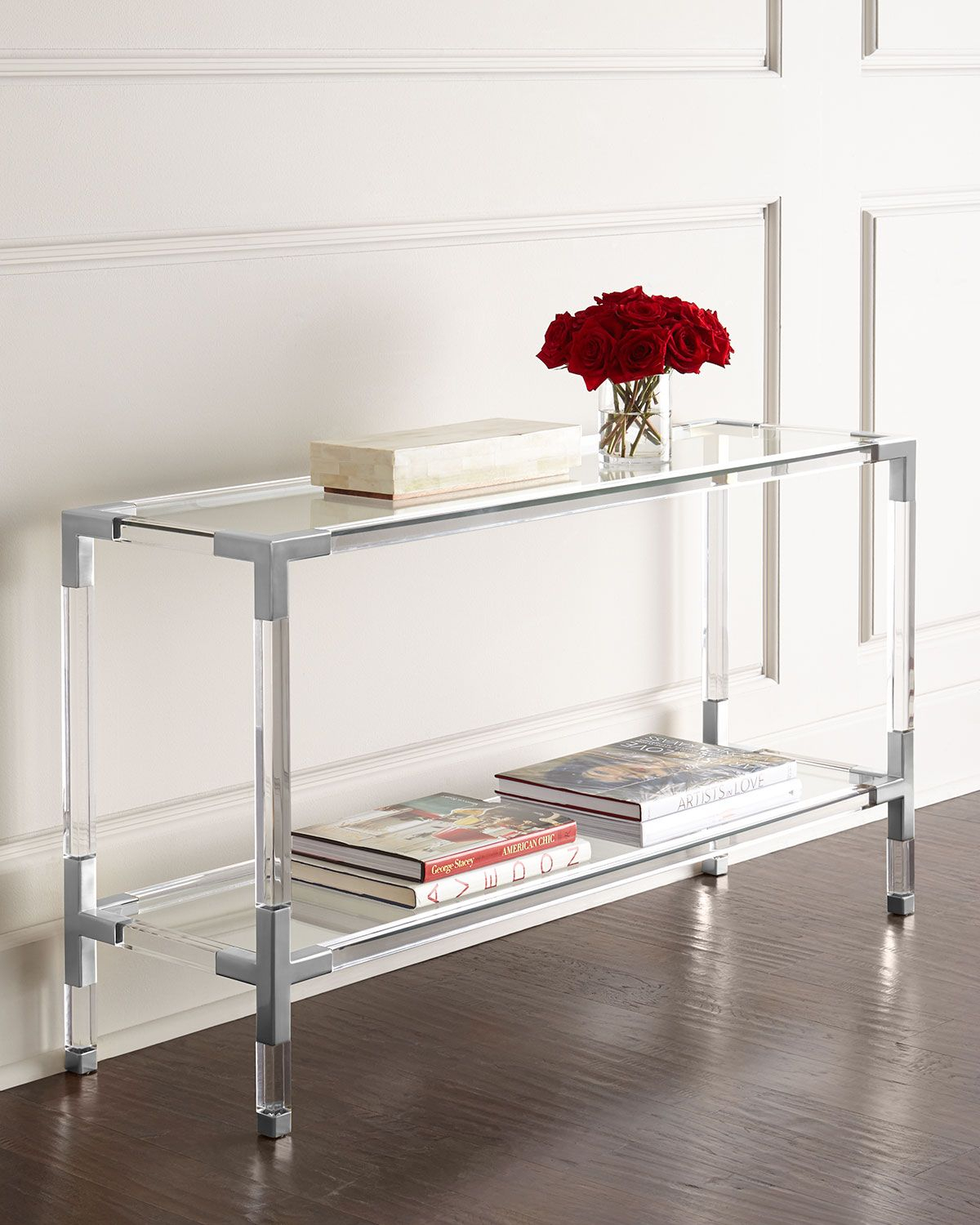 Jacques Acrylic & Nickel Console | Pinterest | Consoles, Jonathan pertaining to Jacque Console Tables (Image 12 of 30)