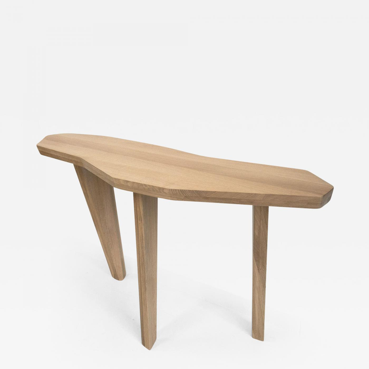 Jacques Jarrige - Sculpted Oak Console Tablejacques Jarrige throughout Jacque Console Tables (Image 21 of 30)