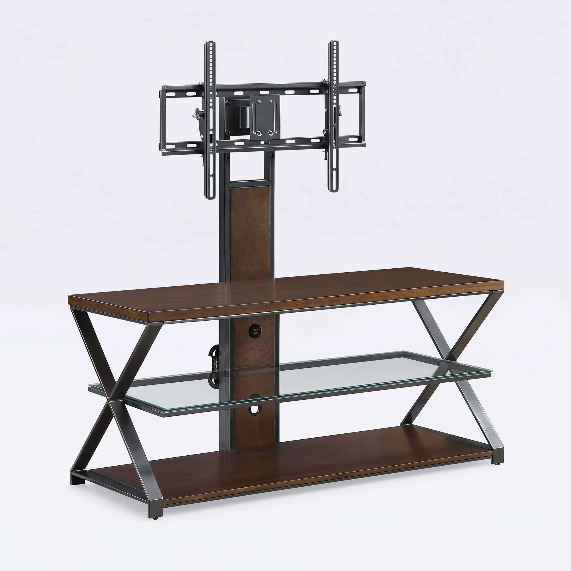 "Jaxon 3-In-1 Cognac Tv Stand For Tvs Up To 70"" - Walmart regarding Jaxon 65 Inch Tv Stands (Image 14 of 30)"
